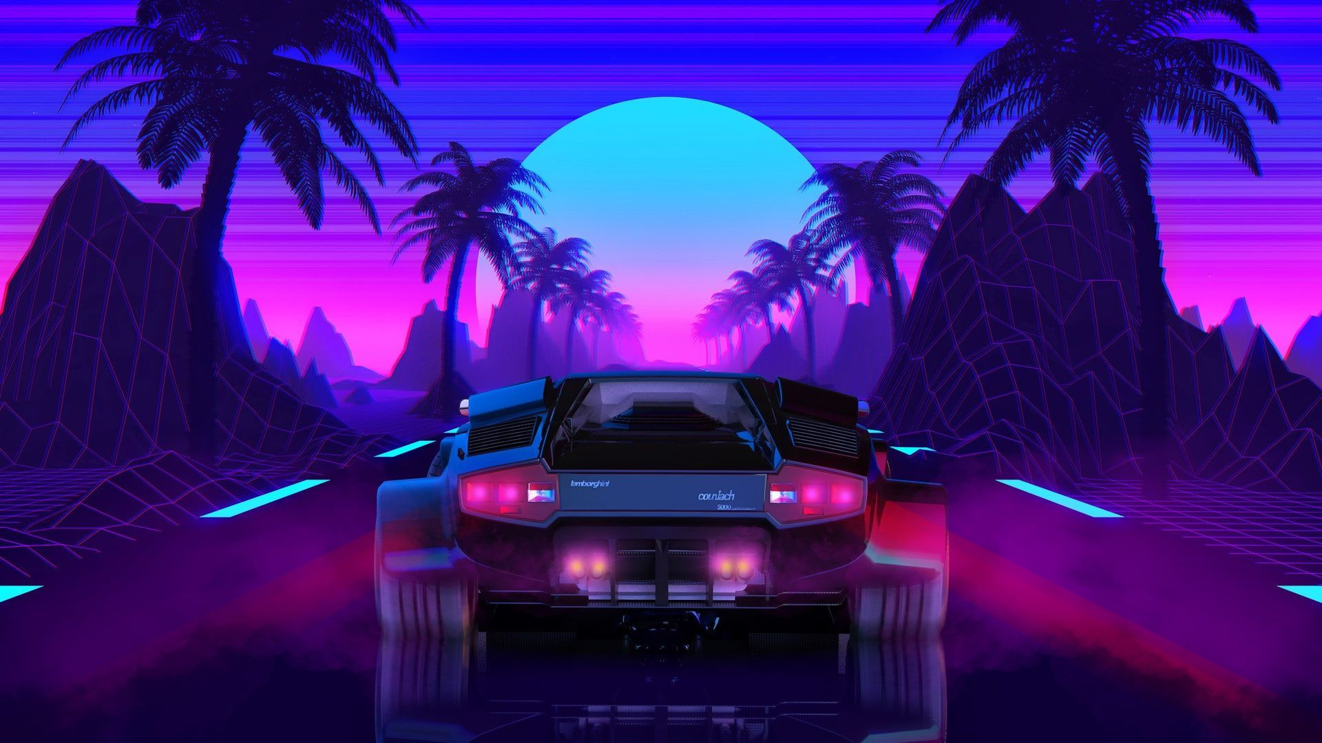 80s Car Retro Synthwave Wallpapers Wallpaper Cave