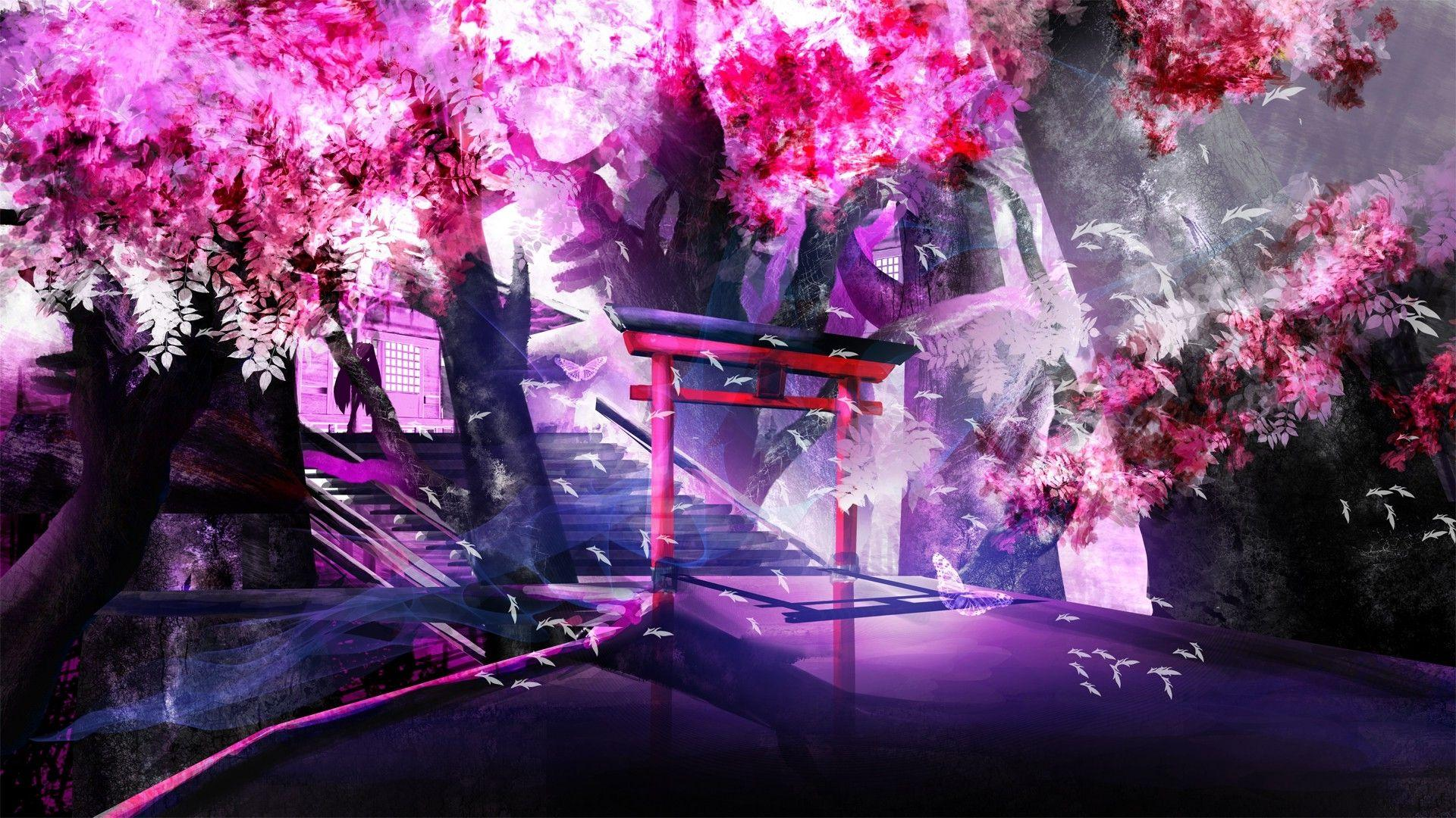 Cool Purple Anime Wallpapers - Wallpaper Cave
