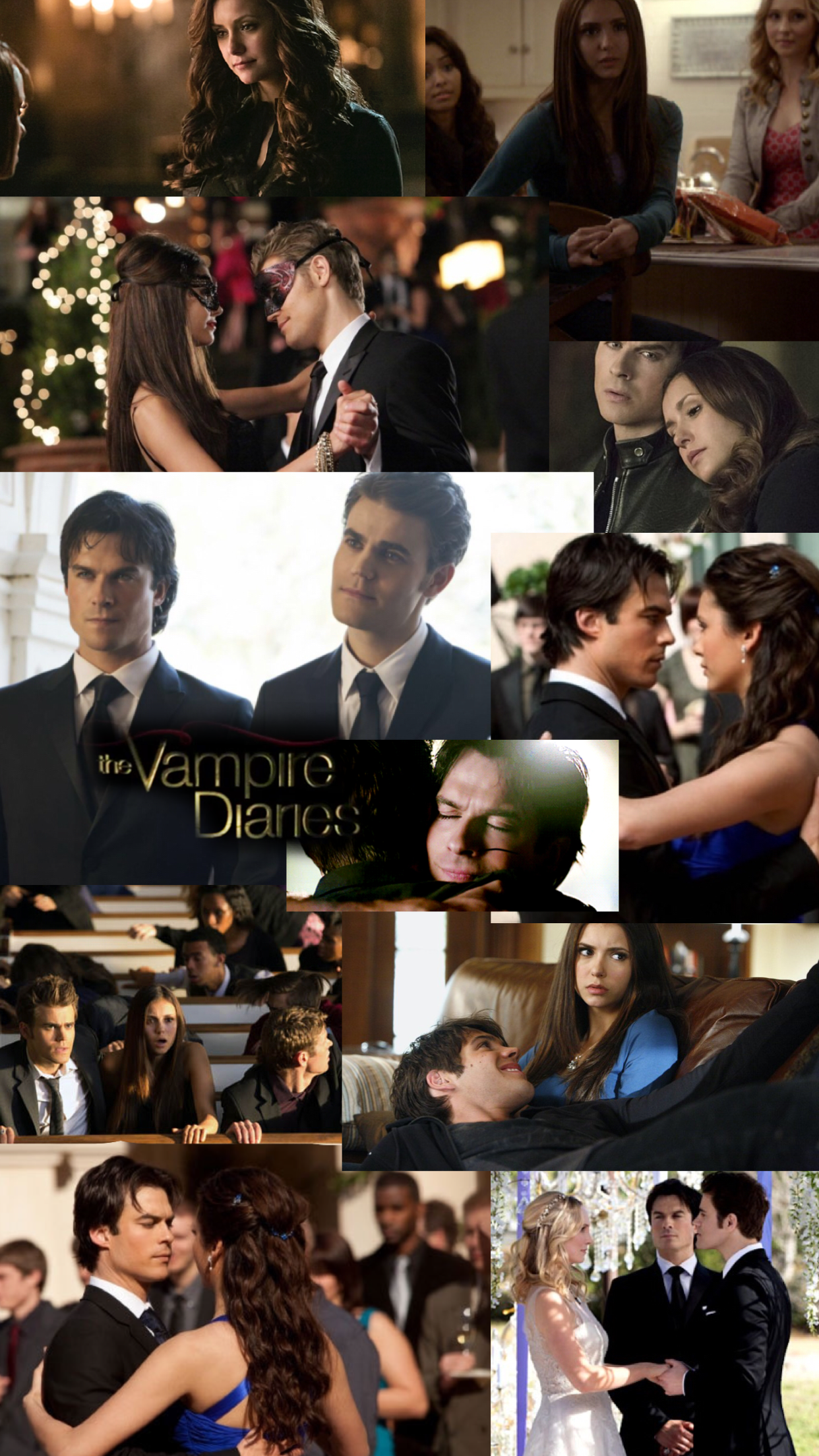 Aesthetic Collage Vampire Diaries Wallpapers - Wallpaper Cave