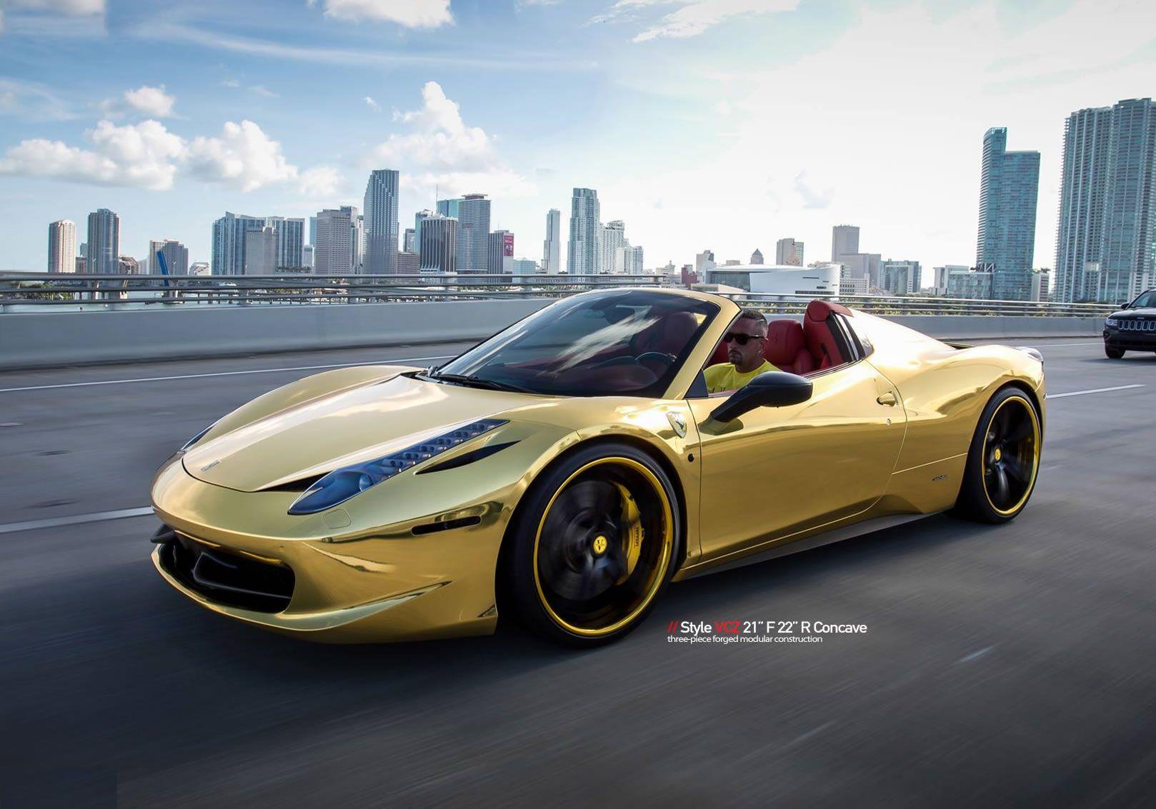 Gold Ferrari Wallpapers - Wallpaper Cave