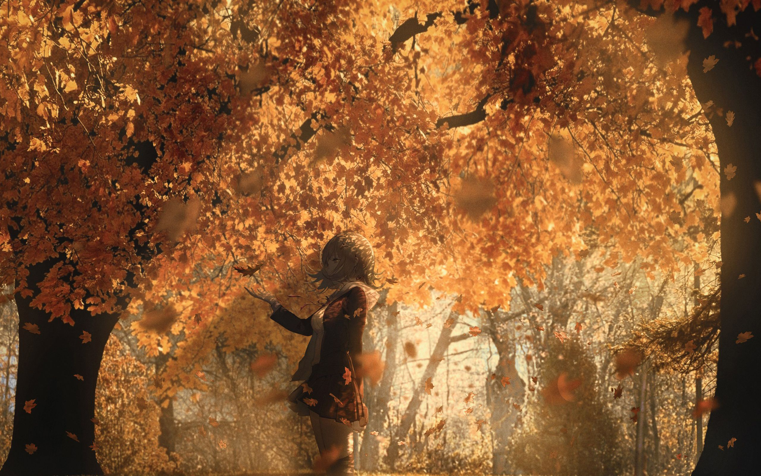 Autumn Anime Wallpapers Wallpaper Cave