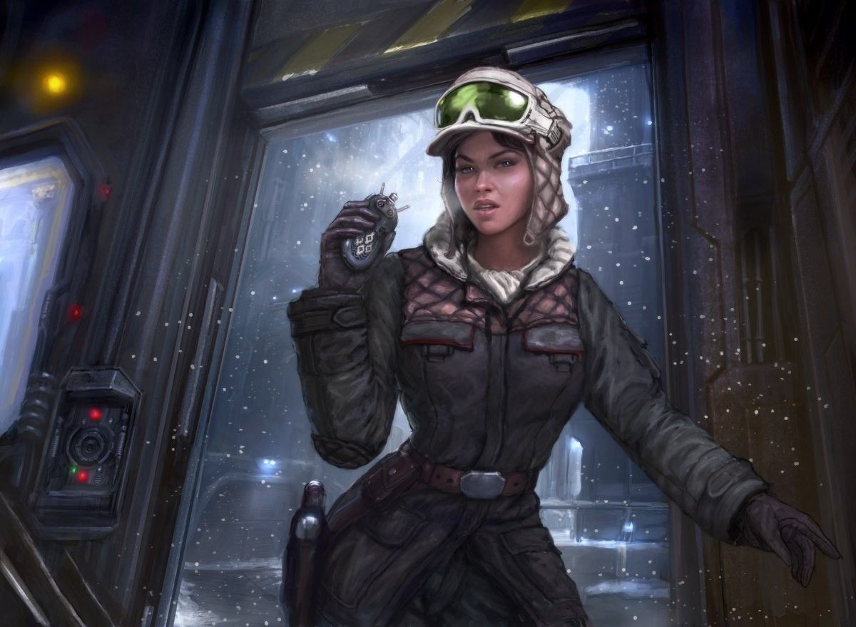 women, Star Wars, soldiers, movies, futuristic, Hoth, digital art, science fiction, artwork, scout :: Wallpapers