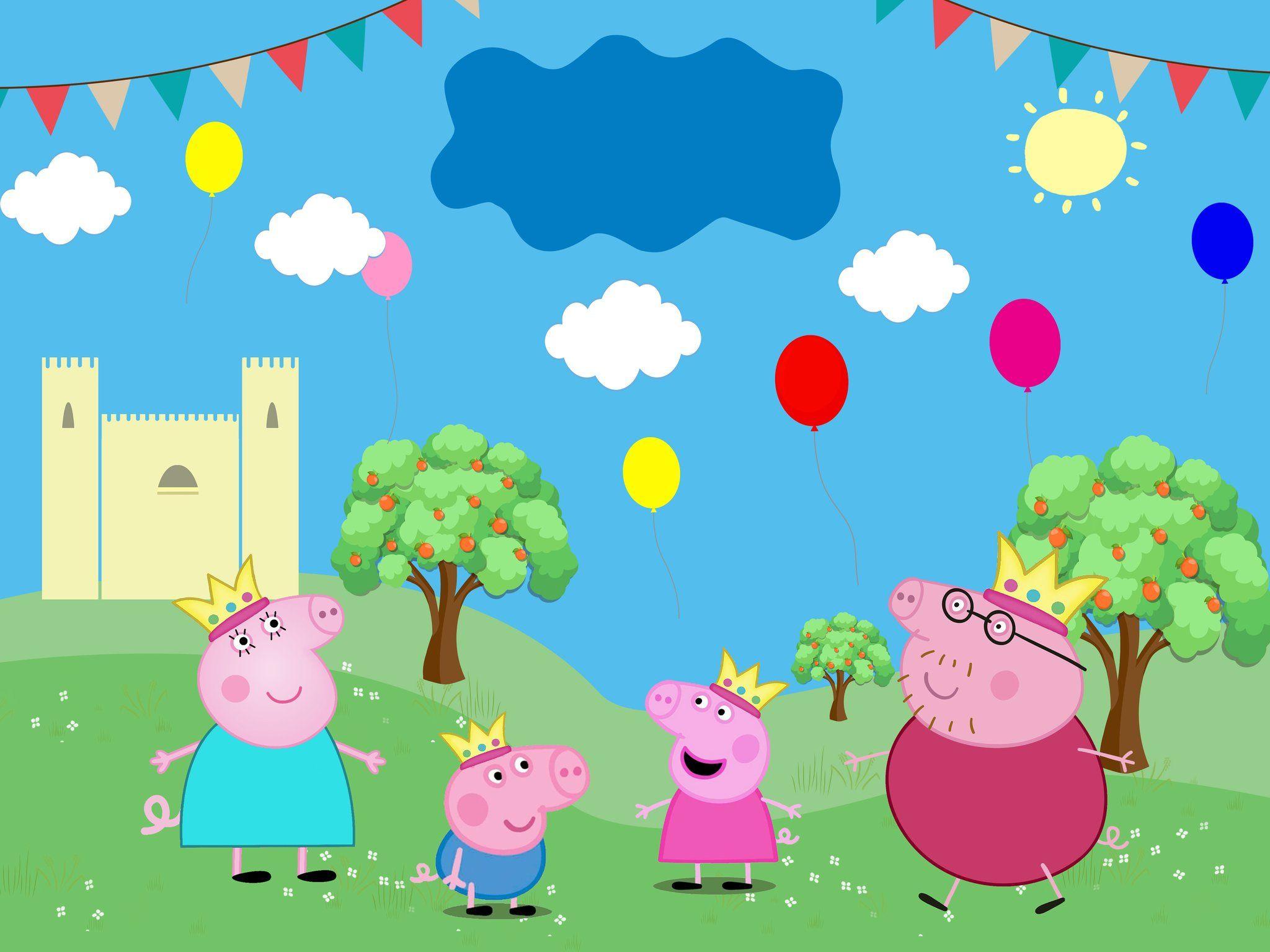 Peppa Pig Birthday Wallpapers Wallpaper Cave