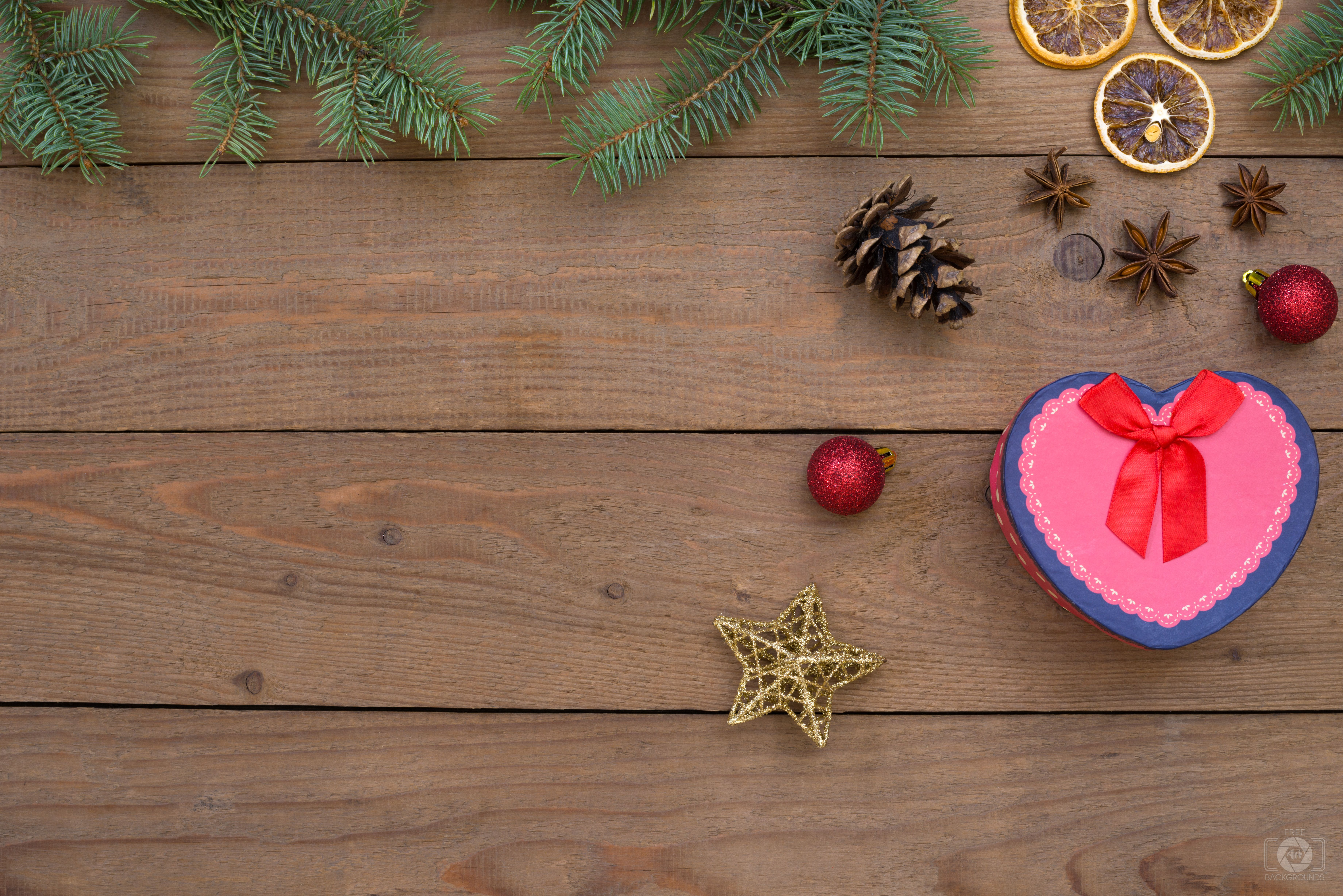 Christmas Backgrounds with Heart Box