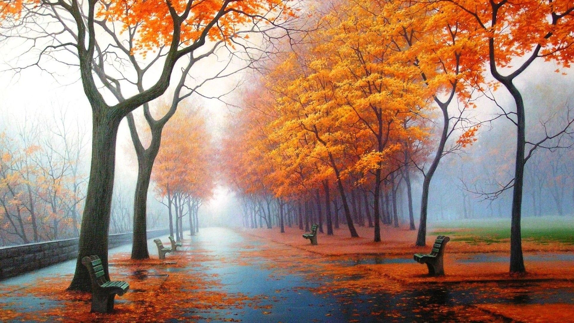 Autumn Anime Scenery Wallpapers Wallpaper Cave