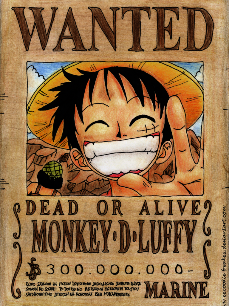 One Piece Wanted Poster Wallpapers Wallpaper Cave