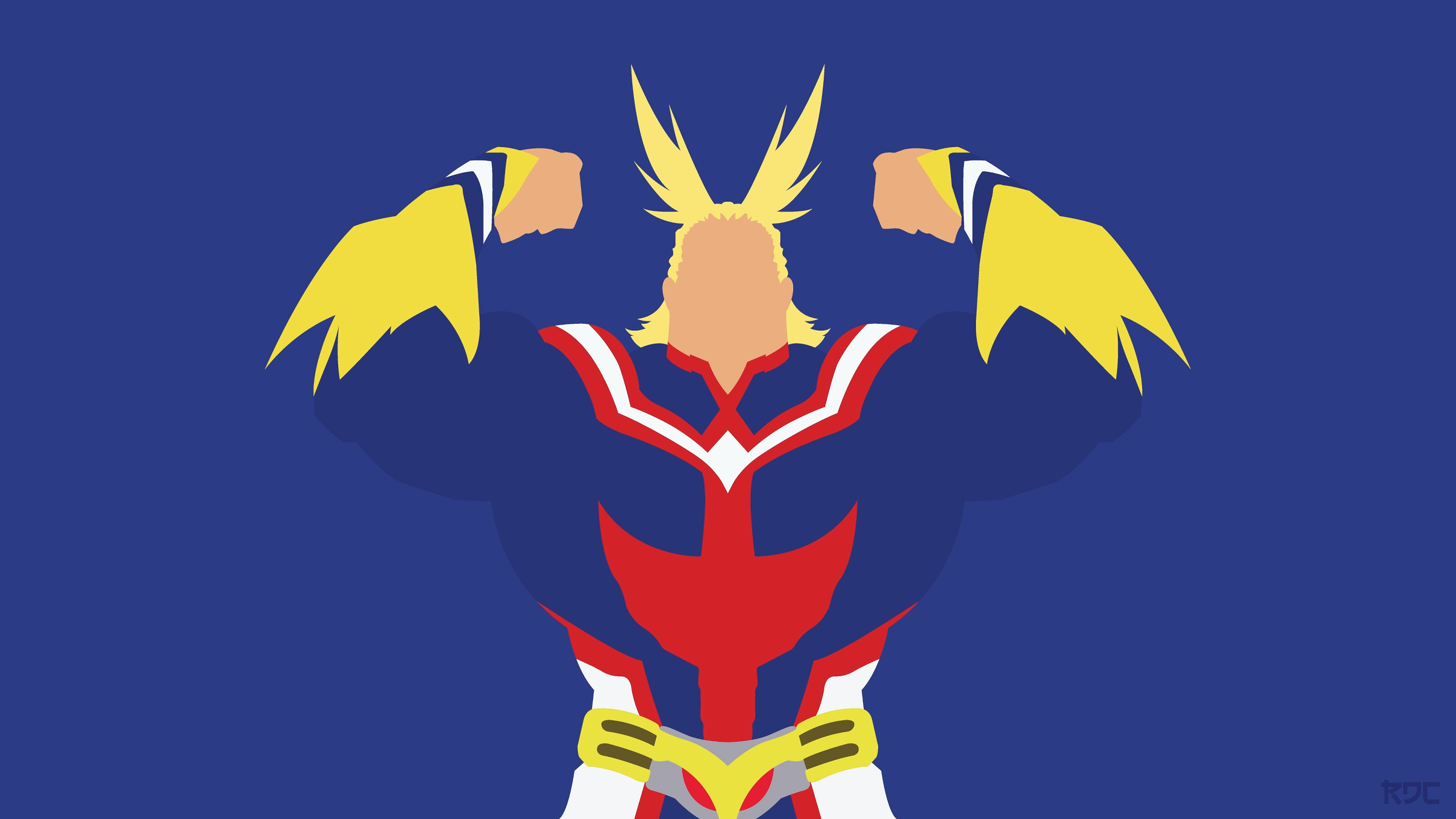 All Might Minimalist Toshinori Yagi My Hero Academia 4K