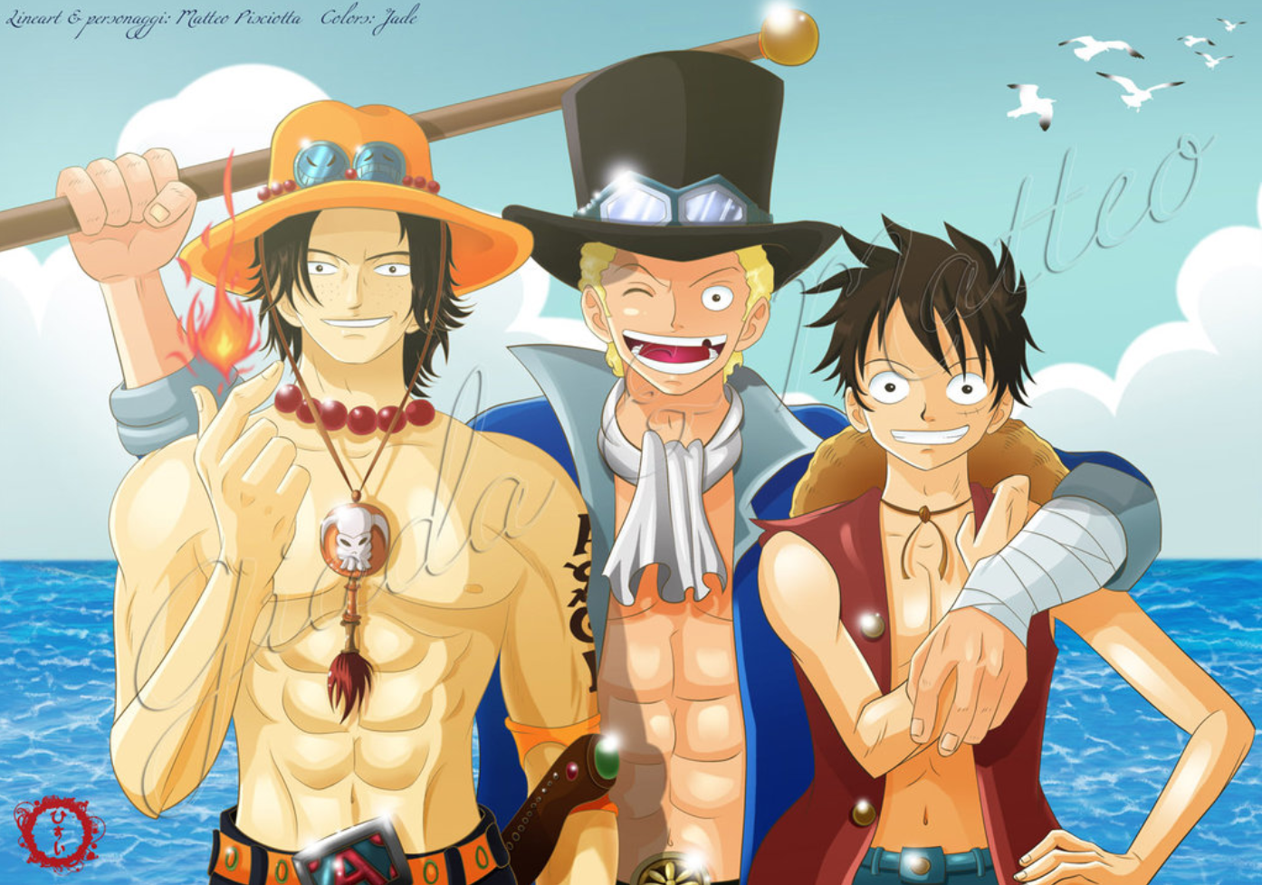 Ace Sabo Luffy Wallpapers Wallpaper Cave