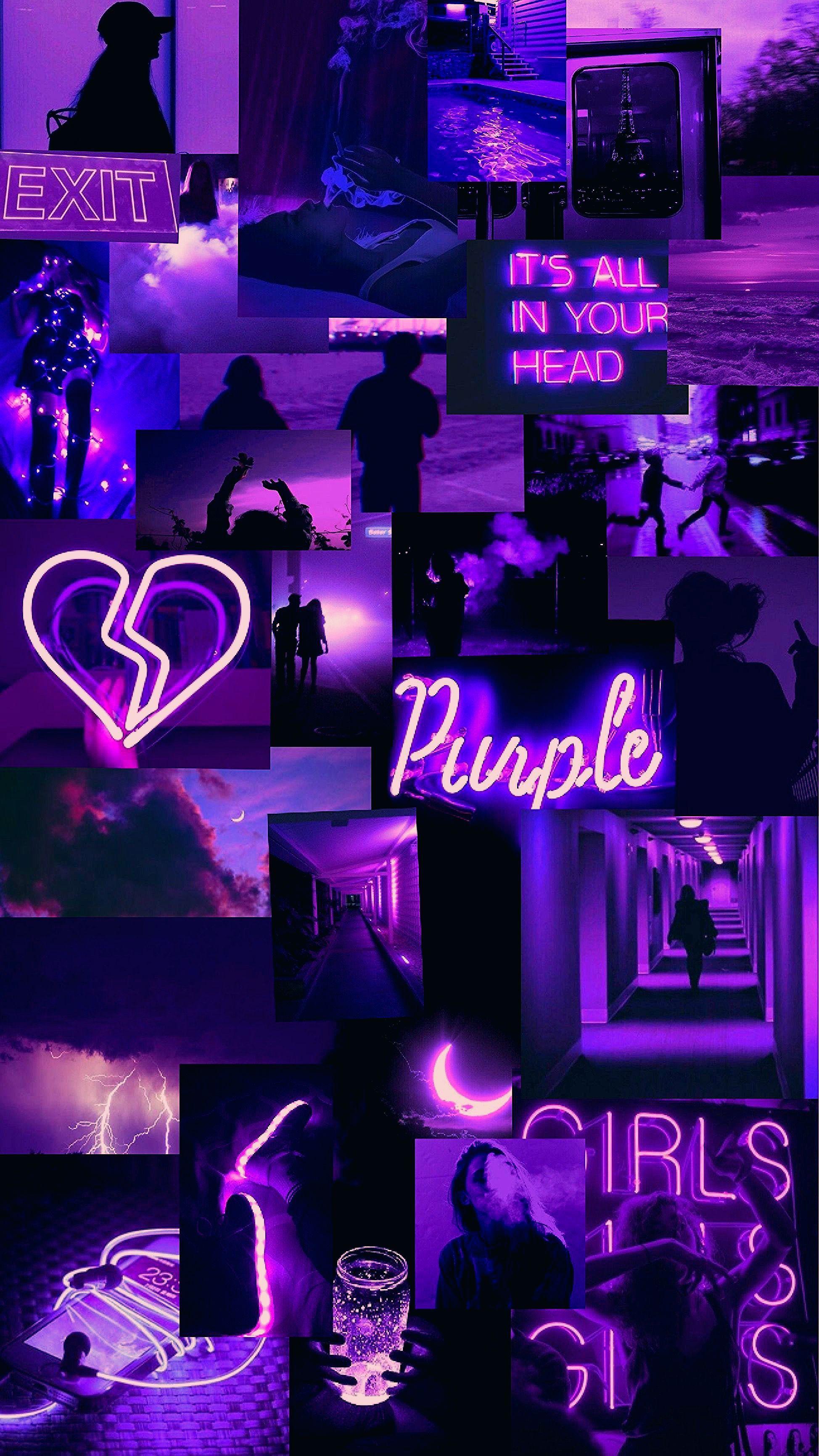 aesthetic neon purple wallpapers
