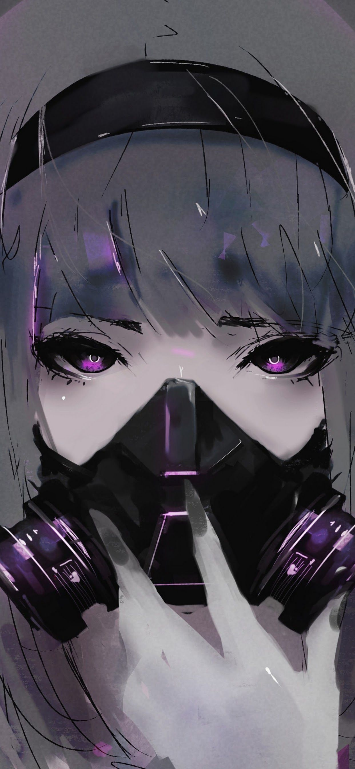 Free download Anime Girl Gas Mask 4K 3840x2160 Wallpapers 13 [1242x2688] for your Desktop, Mobile & Tablet