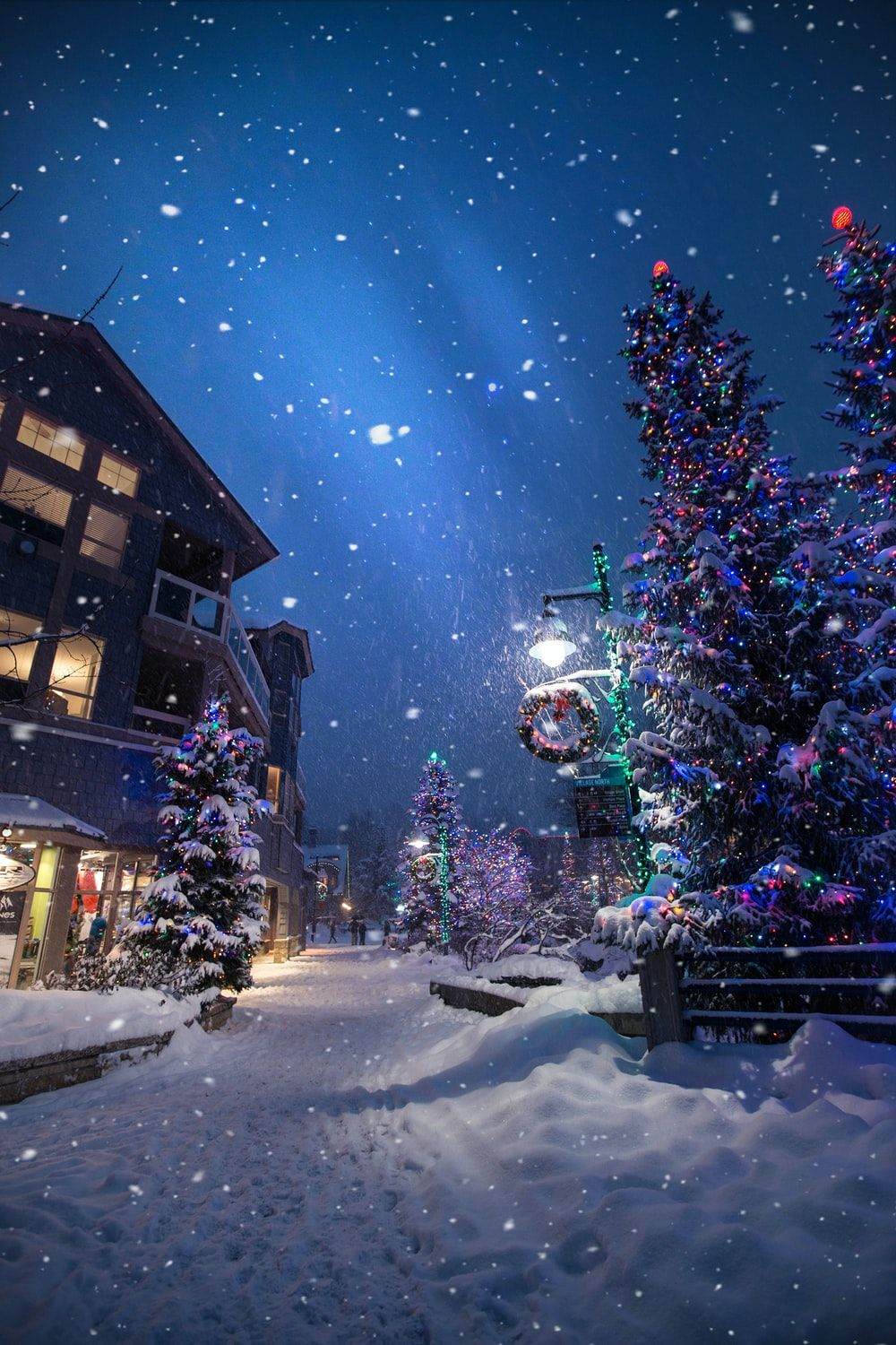 Christmas Tree With Snow On It Wallpapers Wallpaper Cave