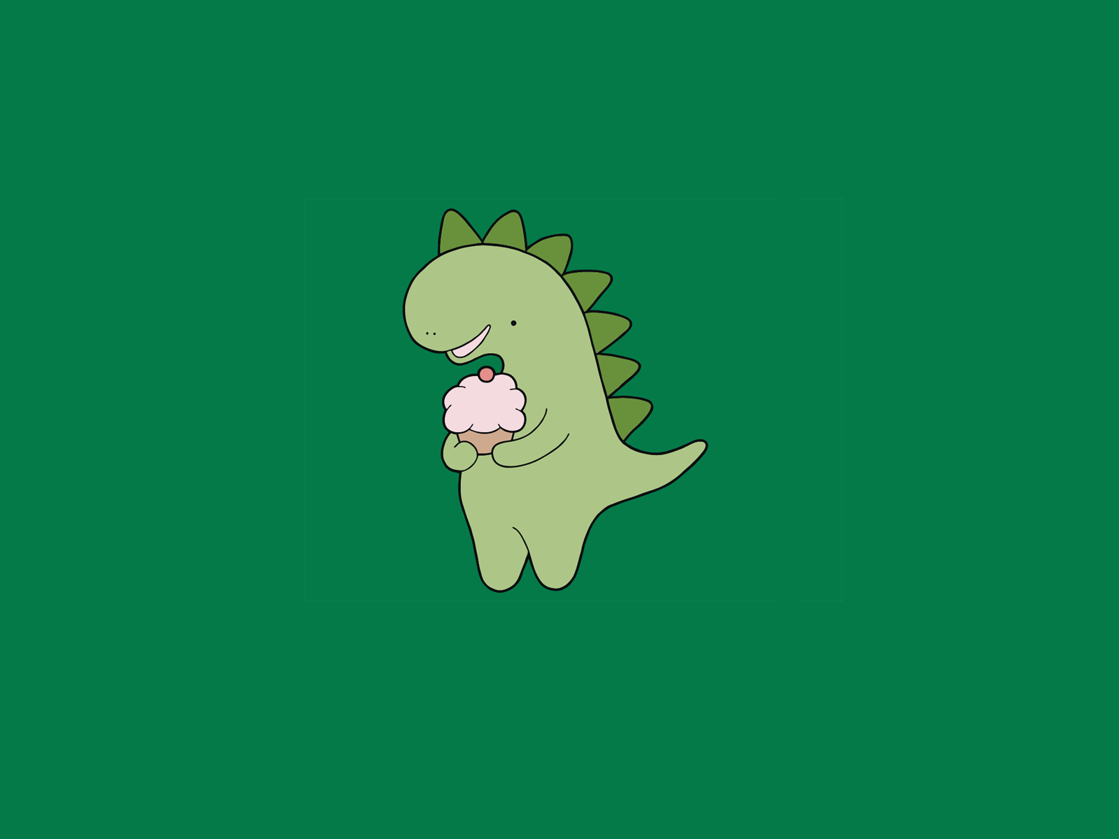 green dino aesthetic wallpapers