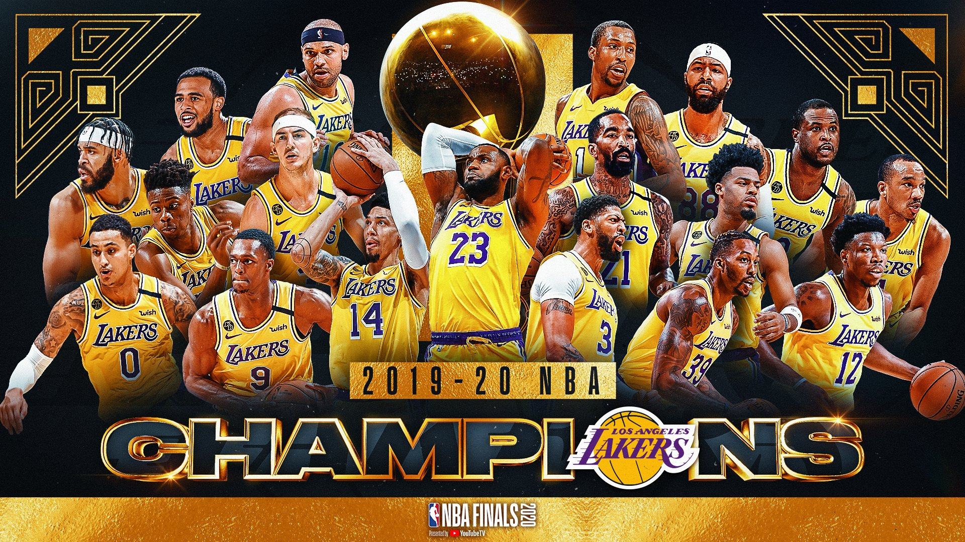 Los Angeles Lakers Nba Champions 2020 Wallpapers Wallpaper Cave