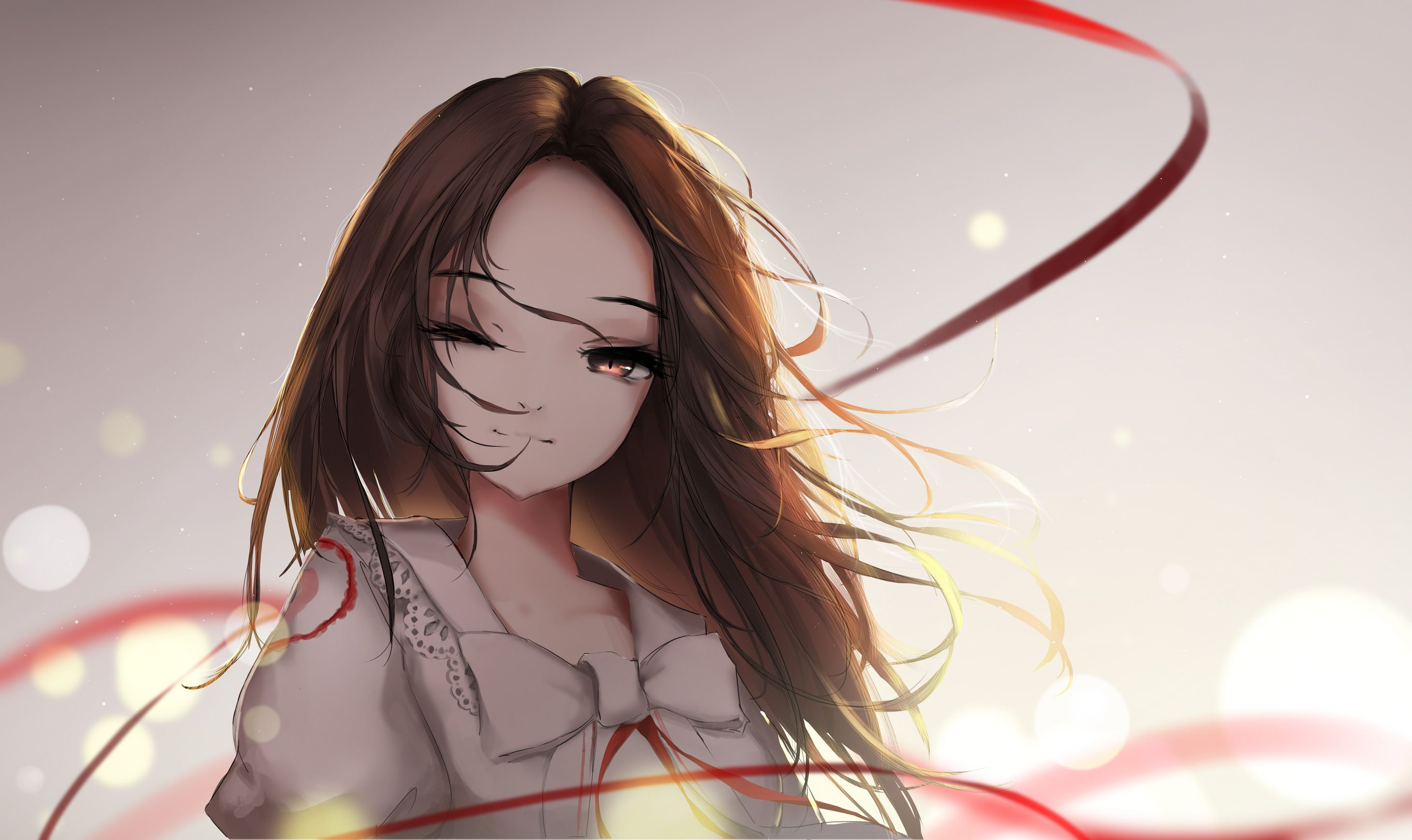 brown hair anime aesthetic