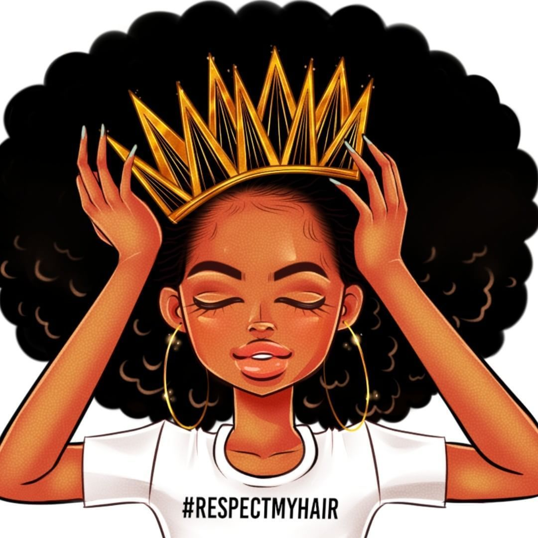 Wallpaper with afro black girl Black and