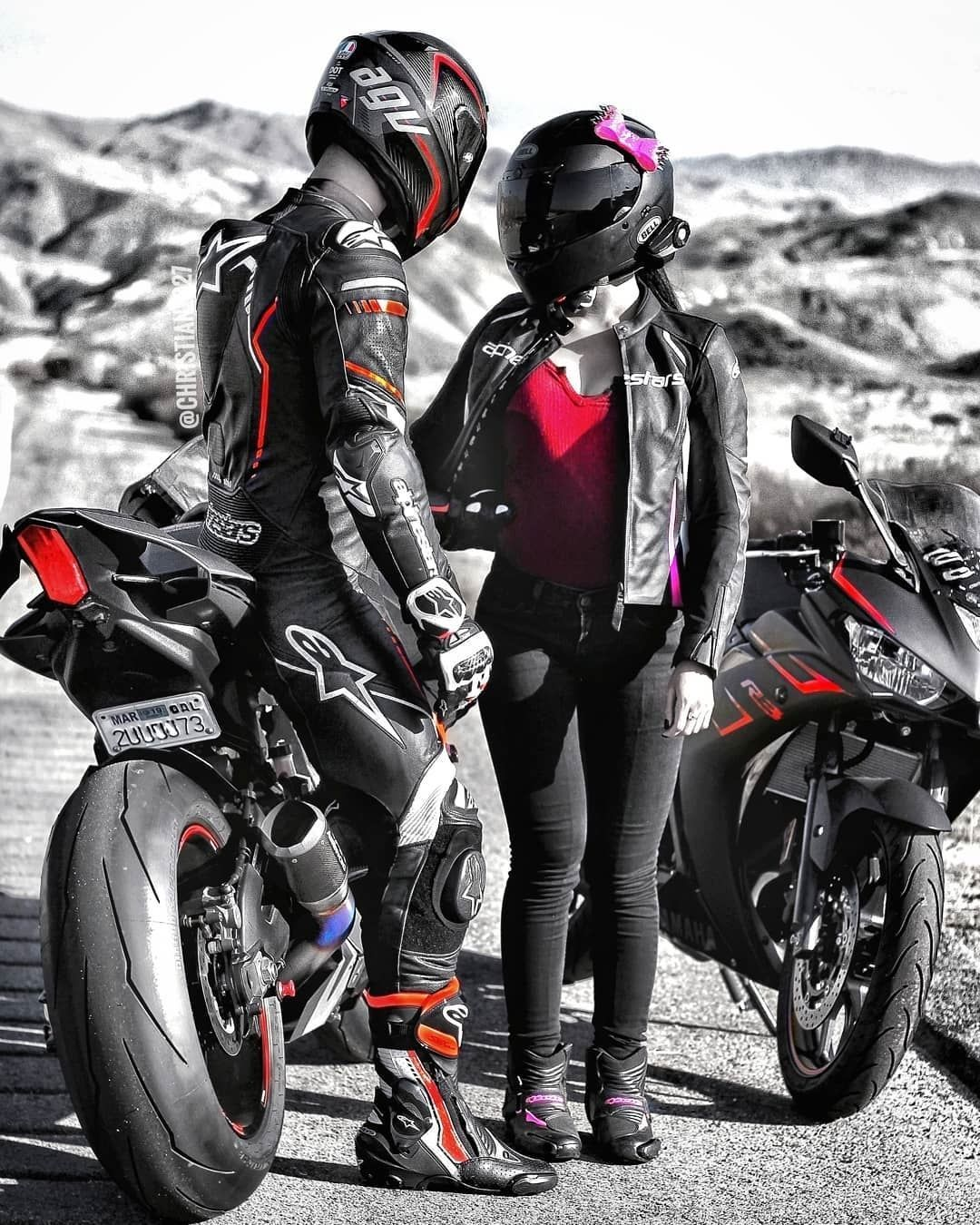 Bike Couple Wallpapers Wallpaper Cave