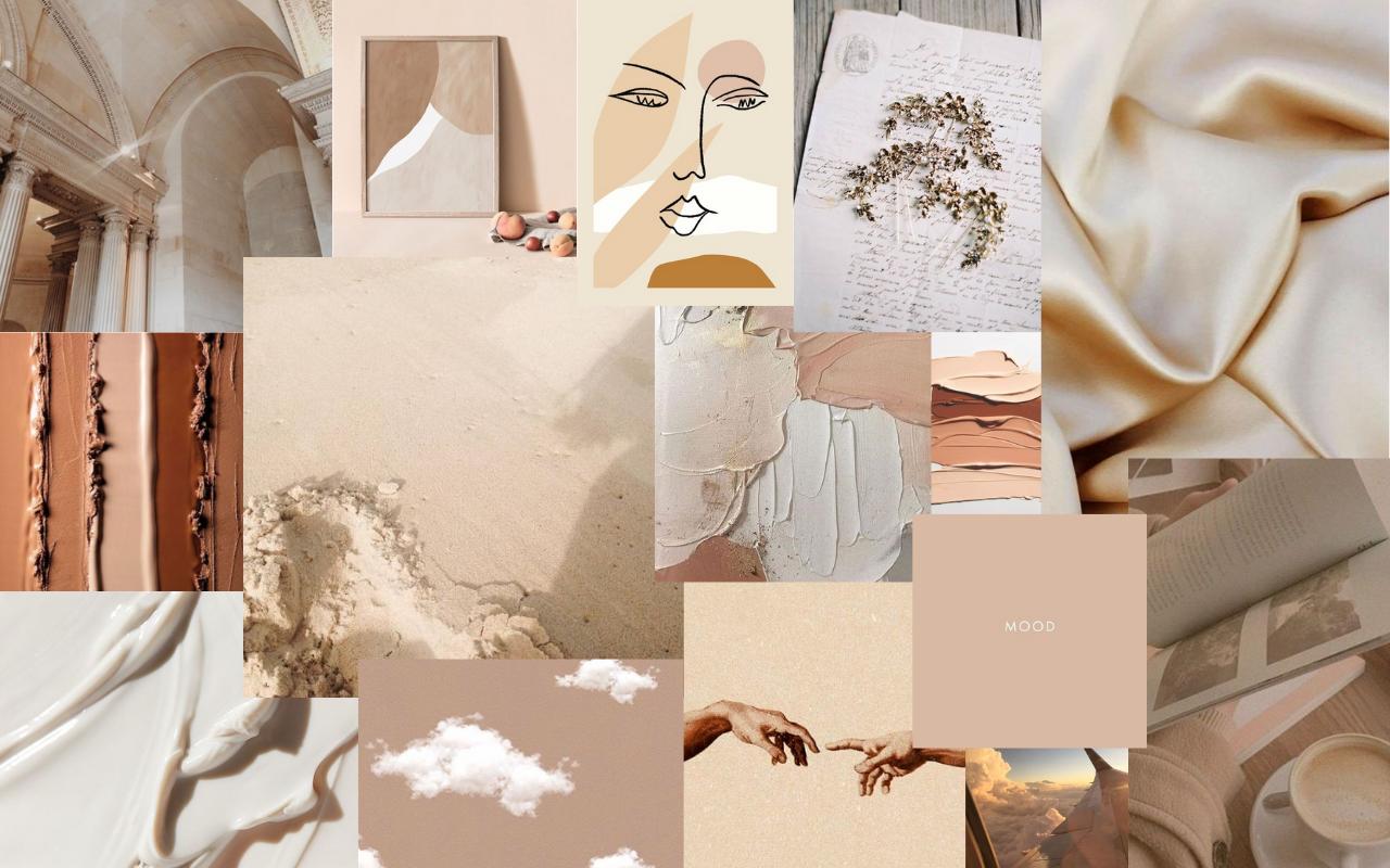 aesthetic beige desktop wallpapers