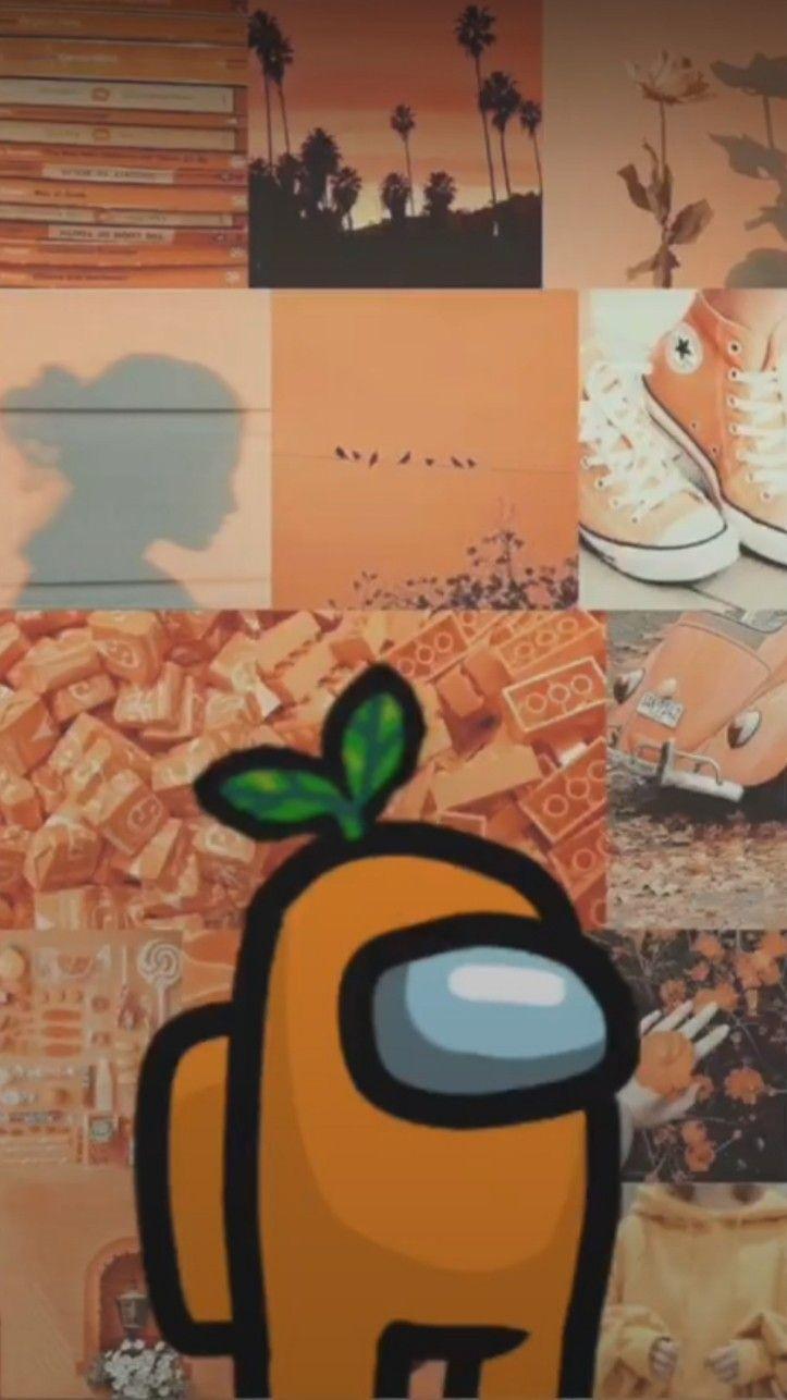 Among Us Orange Wallpapers Wallpaper Cave