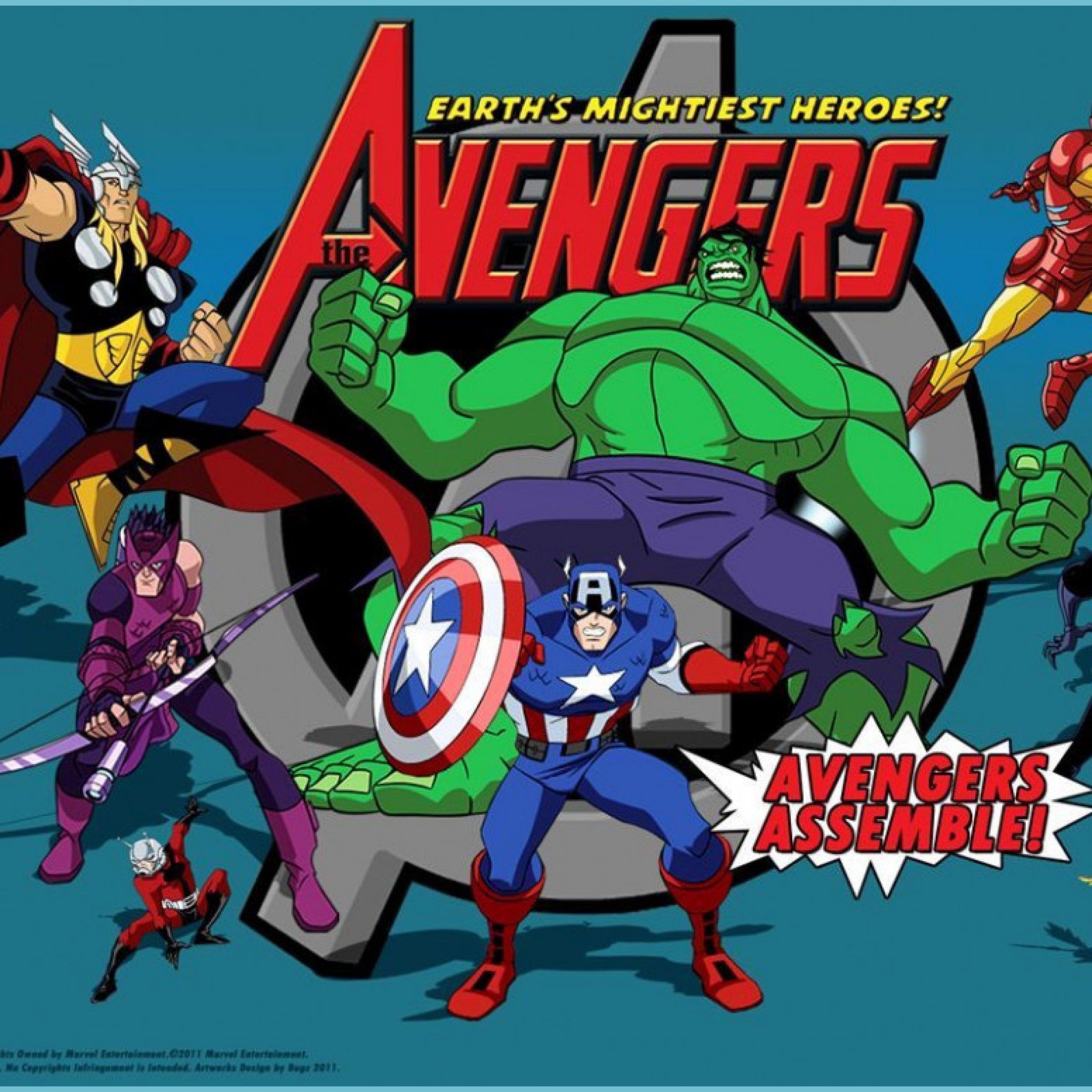Cartoon Avengers Wallpapers Wallpaper Cave