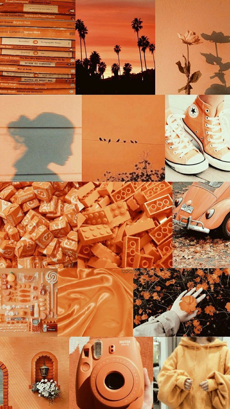 Orange Collage Wallpapers - Wallpaper Cave