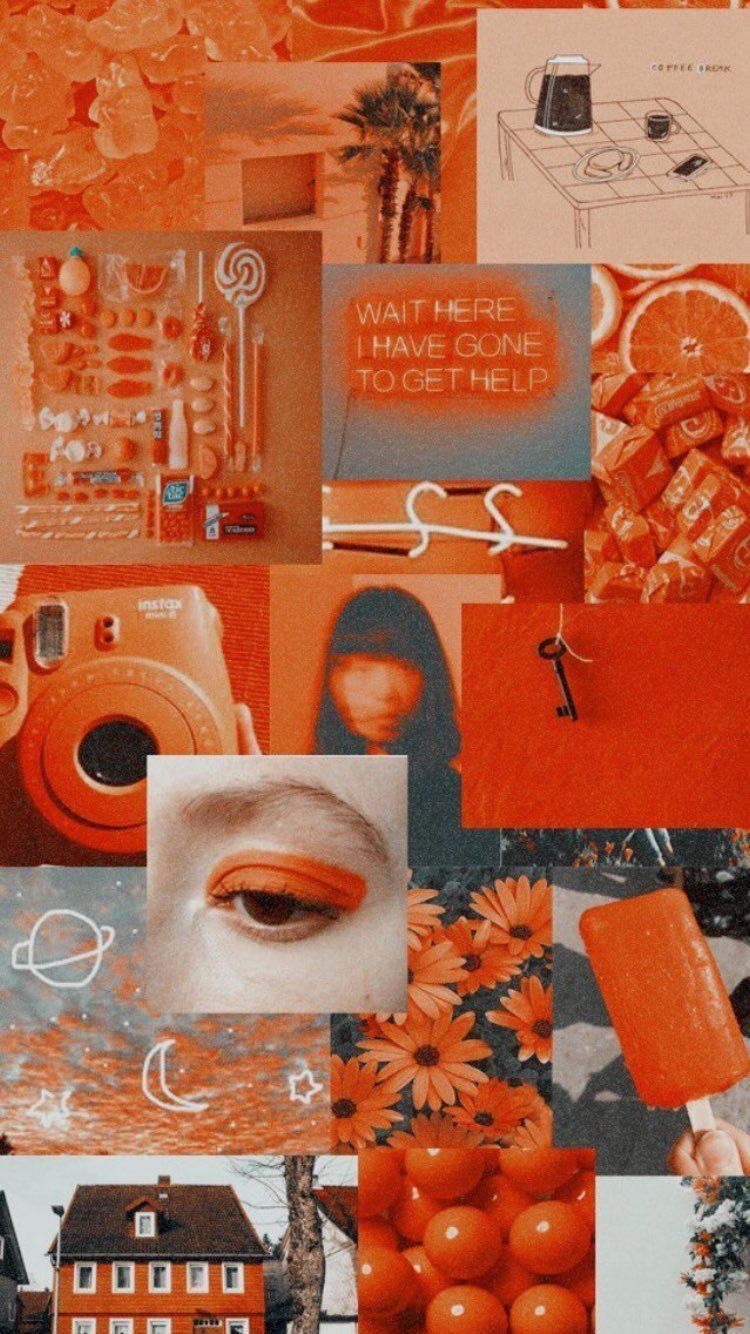 Orange Collage Wallpapers Wallpaper Cave