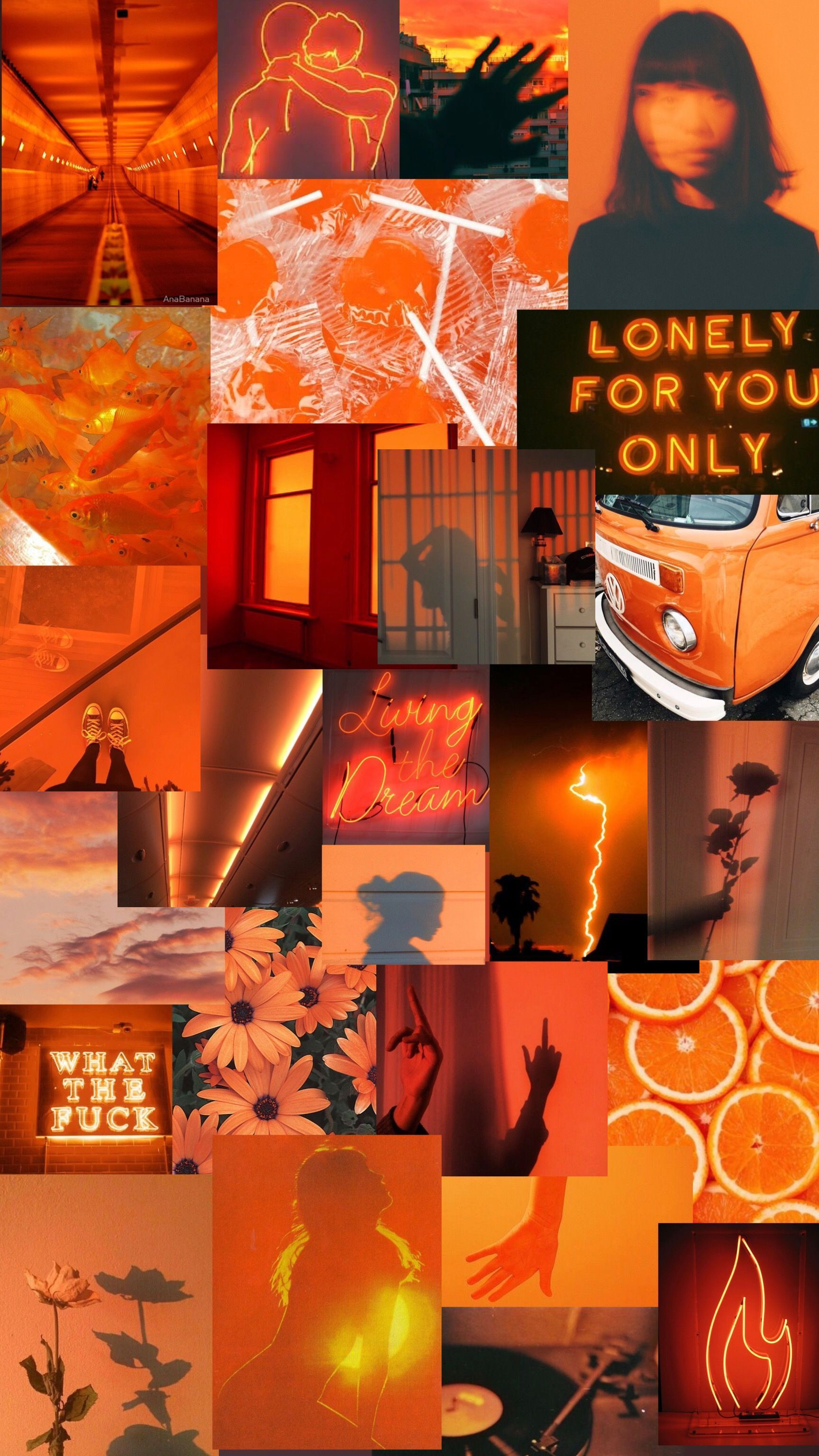 orange collage wallpapers