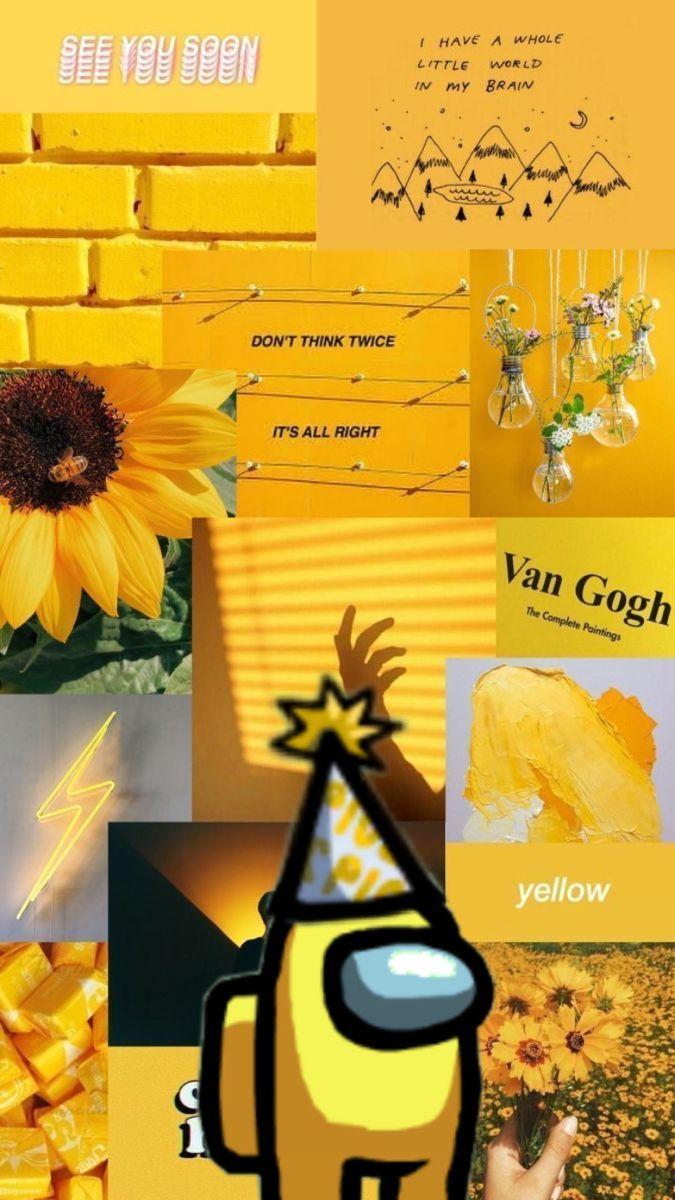 Yellow Among Us Wallpapers Wallpaper Cave