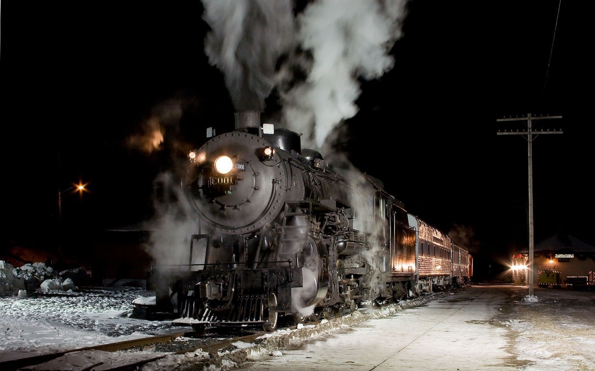 train, Vintage, Night, Steam Locomotive Wallpapers HD / Desktop and Mobile Backgrounds