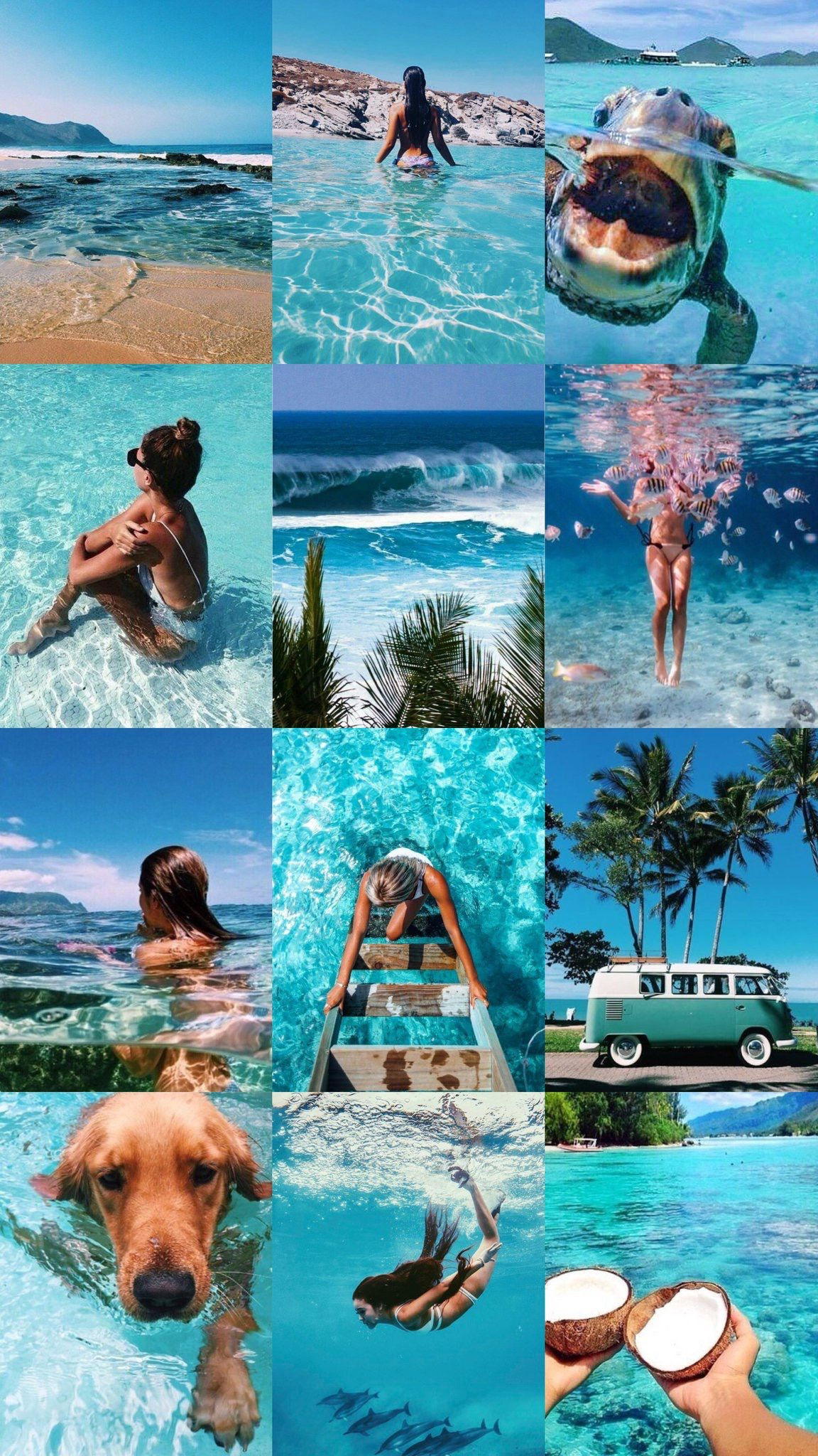 Beach Aesthetic Collage Wallpapers - Wallpaper Cave