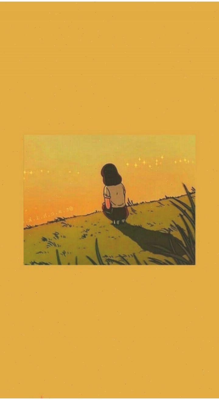 yellow aesthetic anime wallpapers