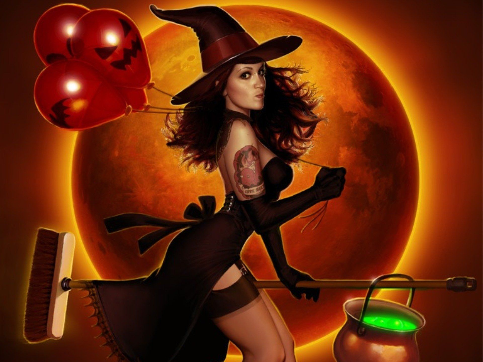 Scary Halloween Witch Wallpapers - Wallpaper Cave