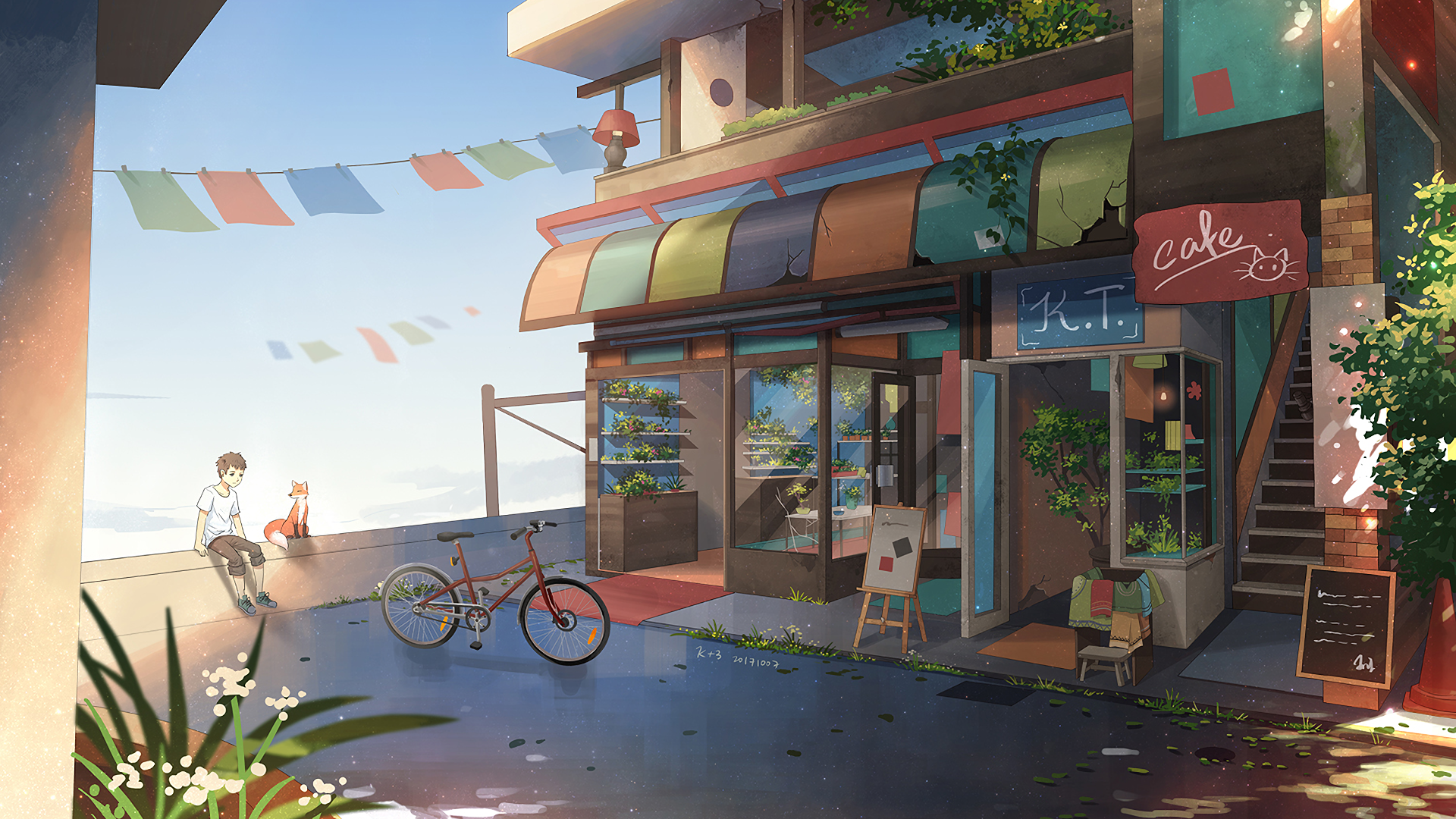Anime Cafe Wallpapers Wallpaper Cave