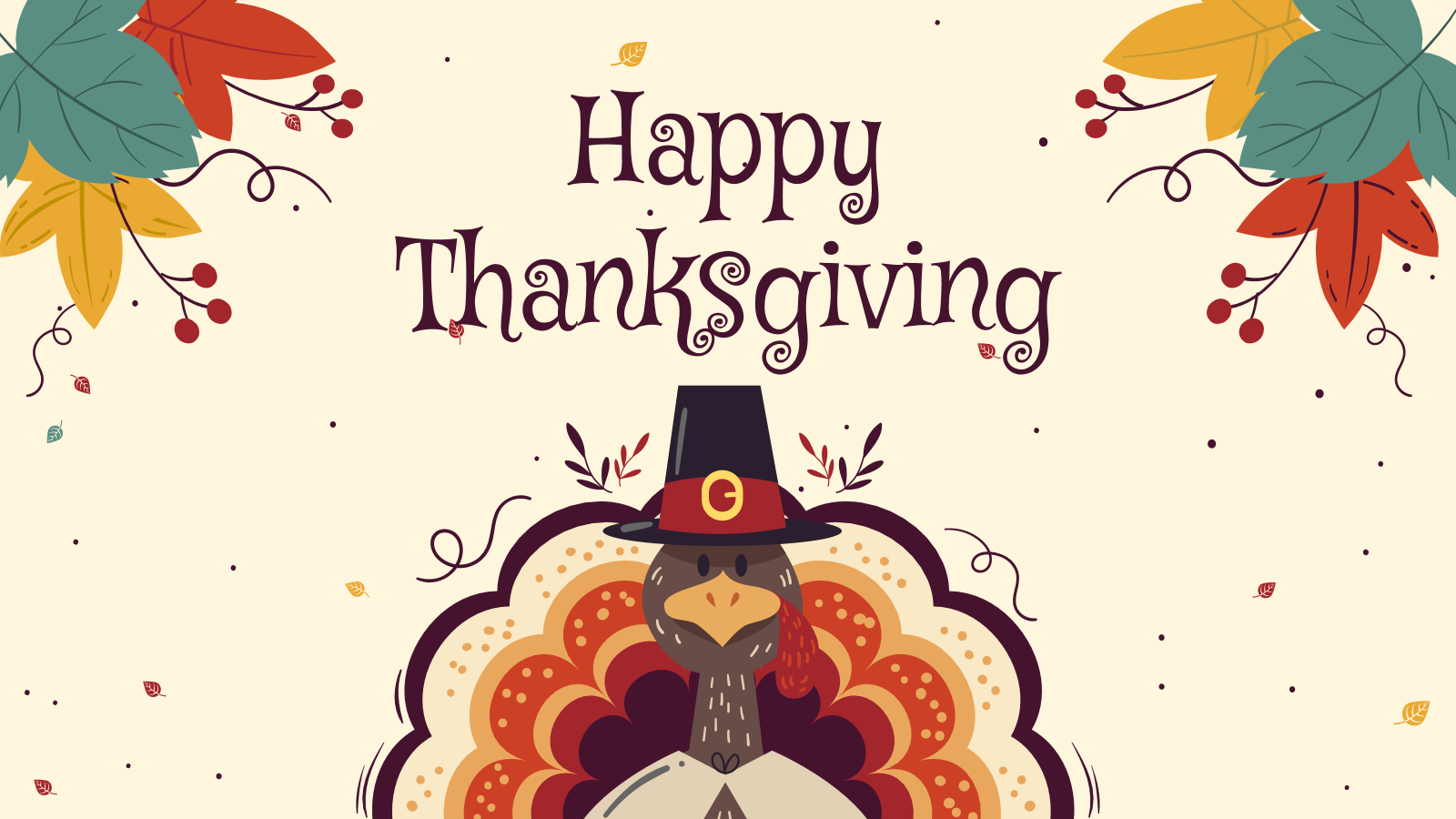 Happy Thanksgiving Google Slides and PowerPoint Template