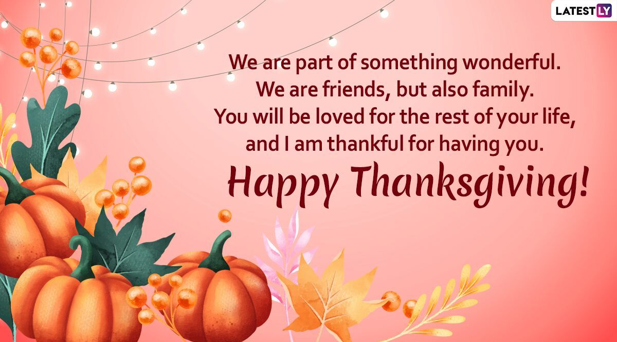 Happy Thanksgiving Day 2019 Messages: WhatsApp Stickers, Facebook Greetings, GIF Image, SMS, Quotes to Wish on US National Holiday