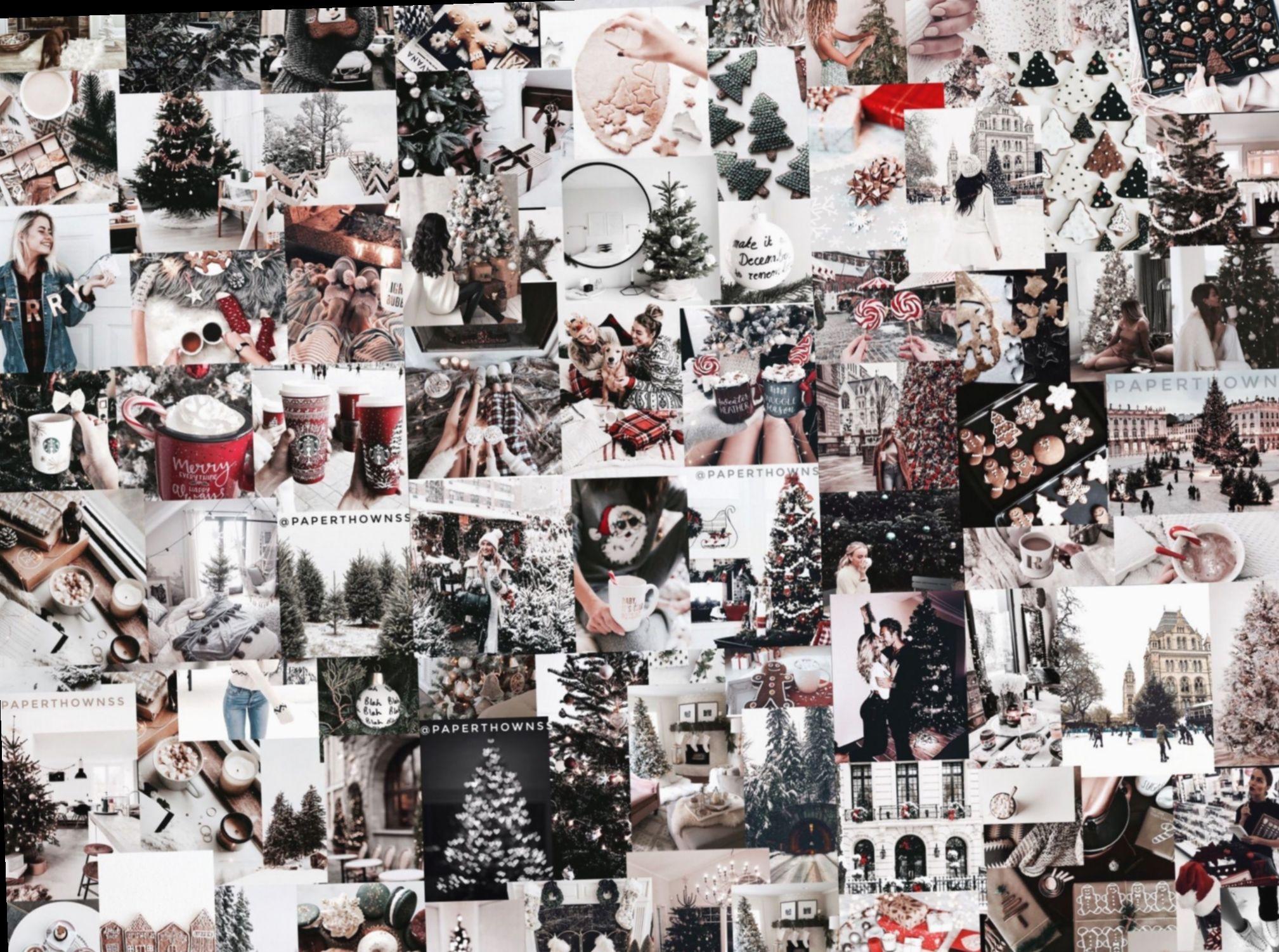 Christmas Collage Wallpaper Vsco