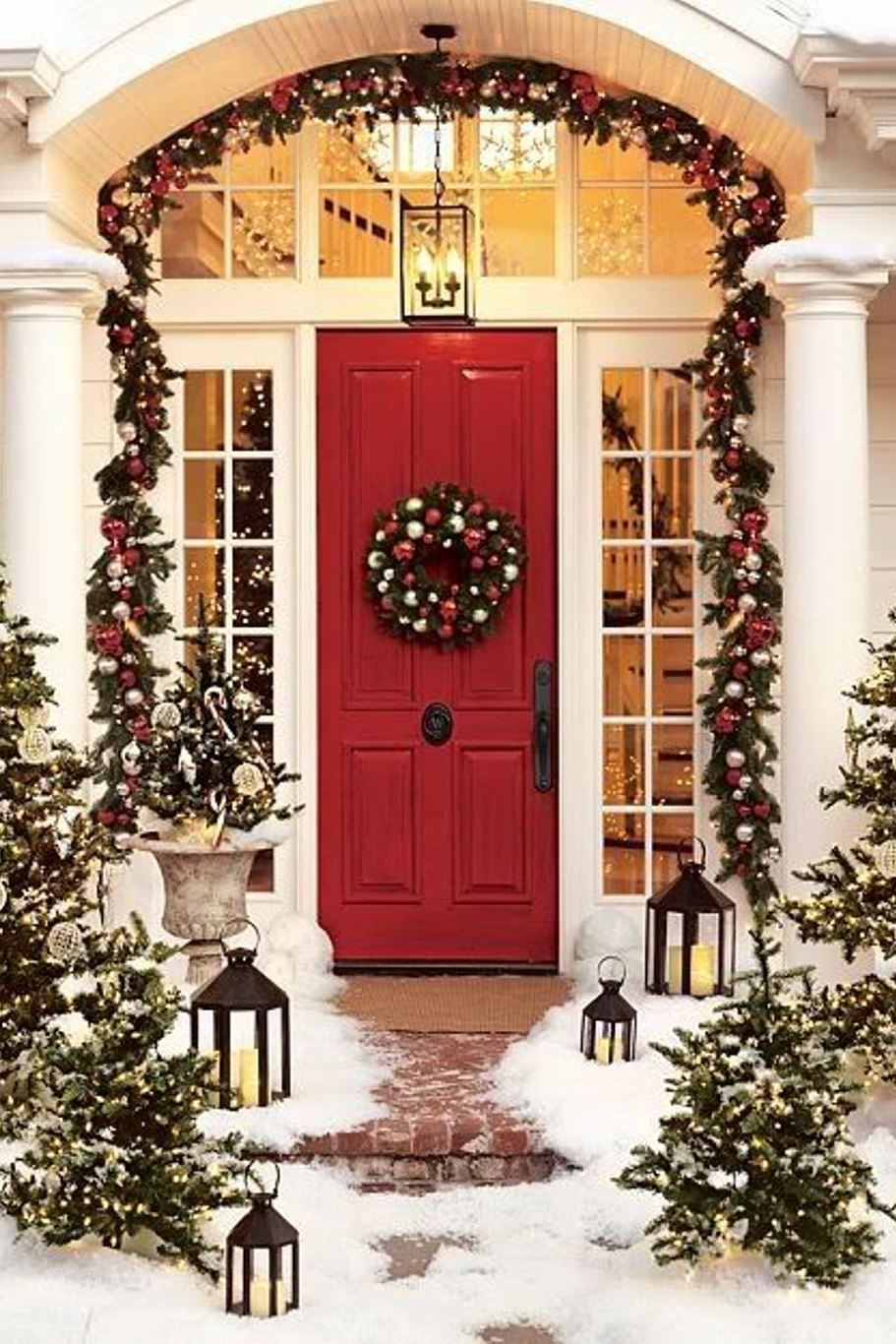 Christmas Door Decorations Wallpapers Wallpaper Cave