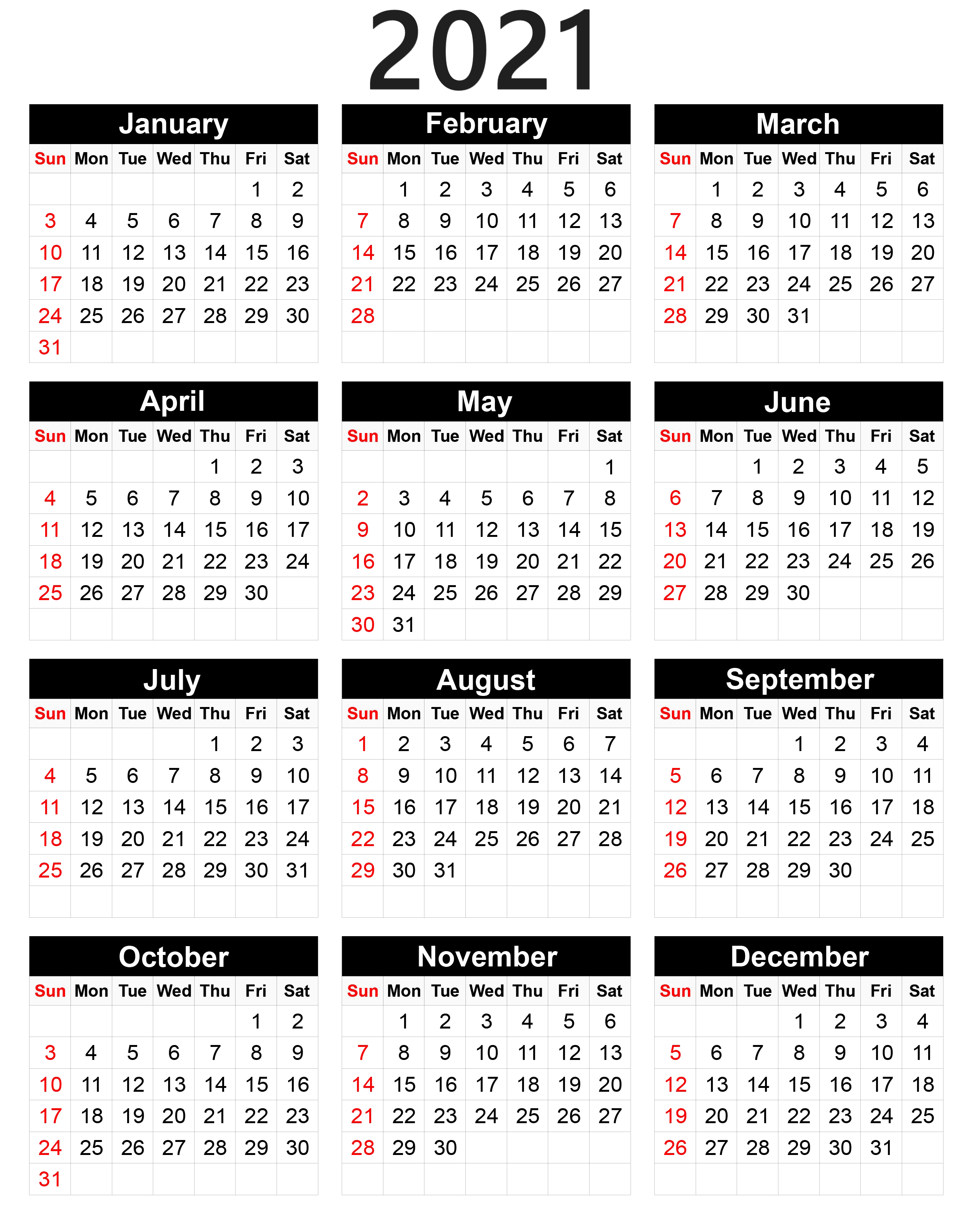 Calendar Of Year 2021 Wallpapers - Wallpaper Cave