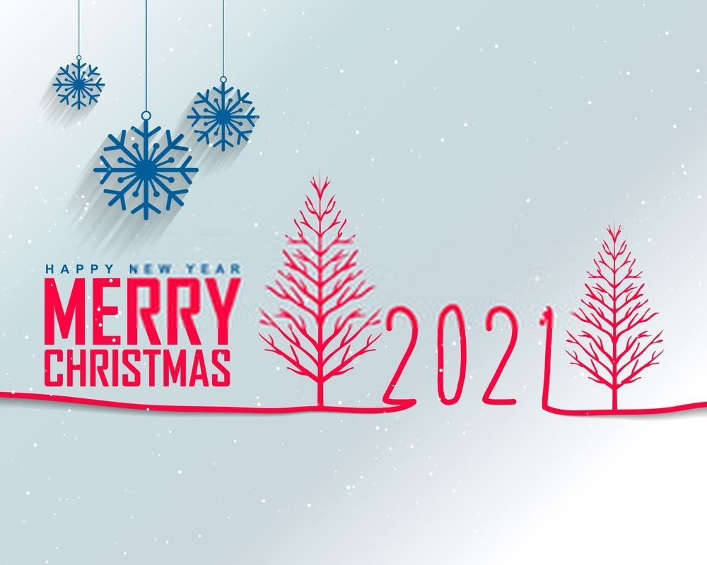 Merry Christmas Happy New Year 2021 Wallpapers Wallpaper Cave