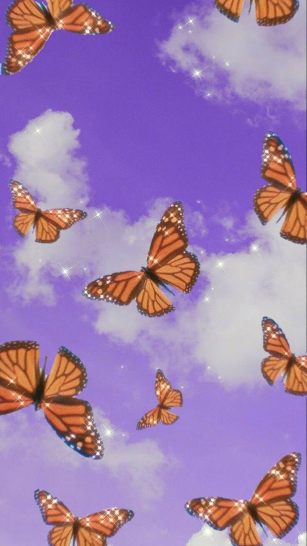 Aesthetic Butterfly Purple Wallpapers Wallpaper Cave