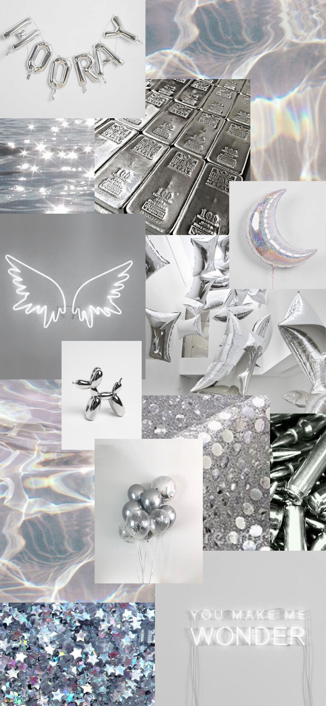 Silver Aesthetic Wallpapers Wallpaper Cave