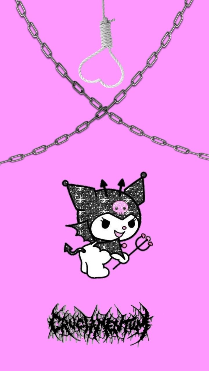 Wallpaper dark hello kitty Sanrio Characters