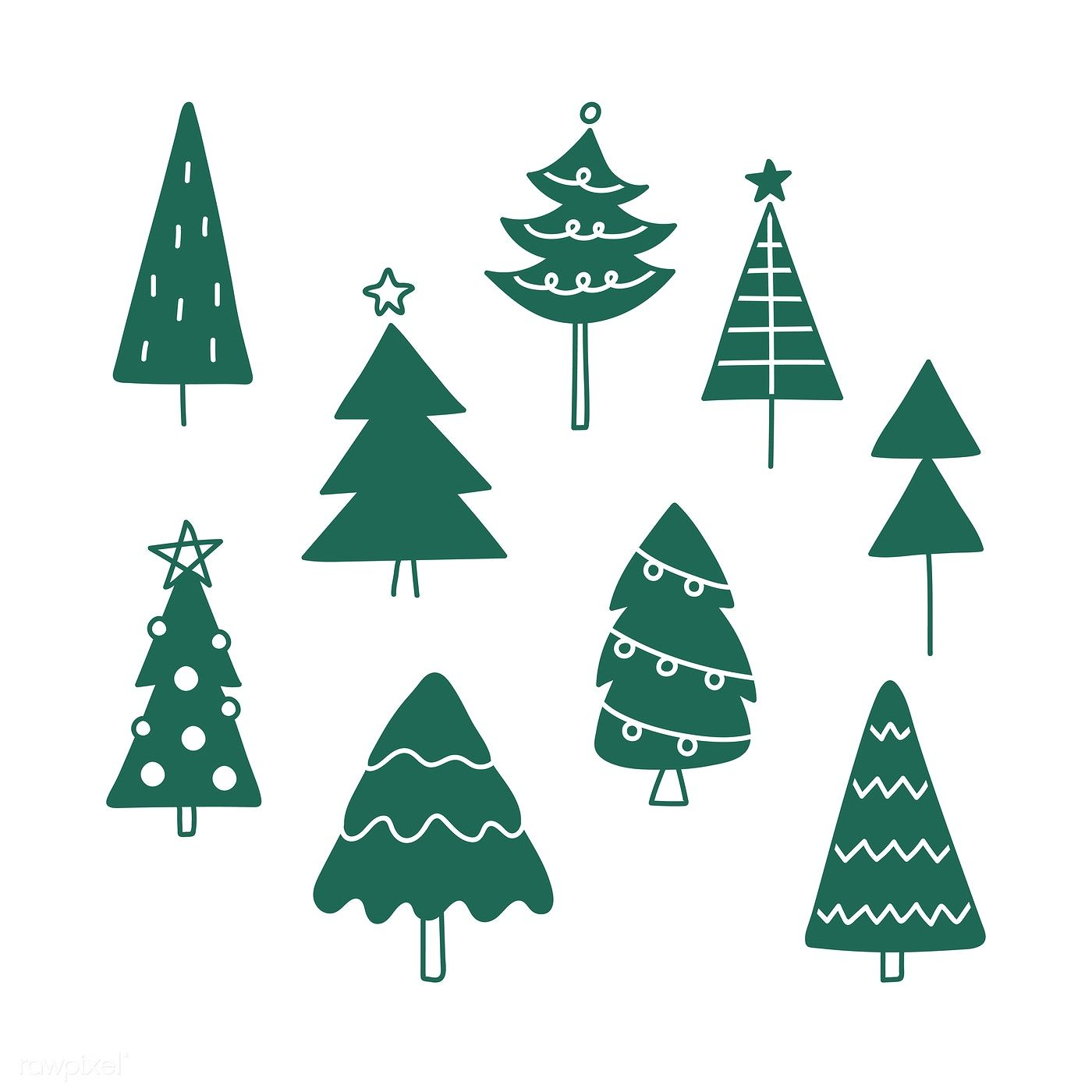 Christmas Tree Draw Wallpapers Wallpaper Cave