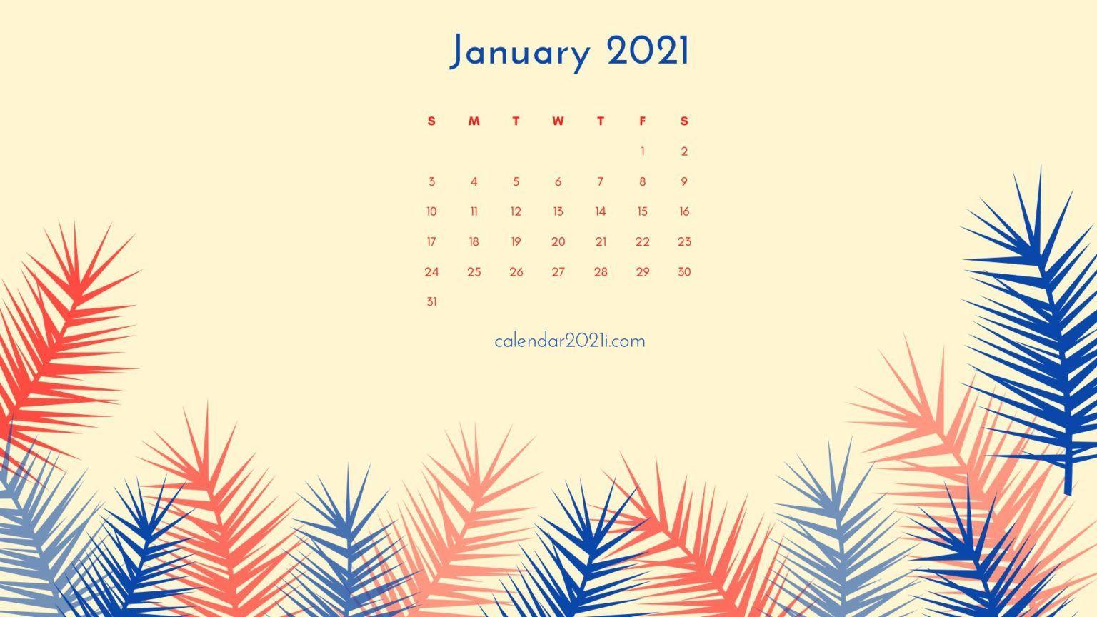 January 2021 Calendar Wallpapers Wallpaper Cave