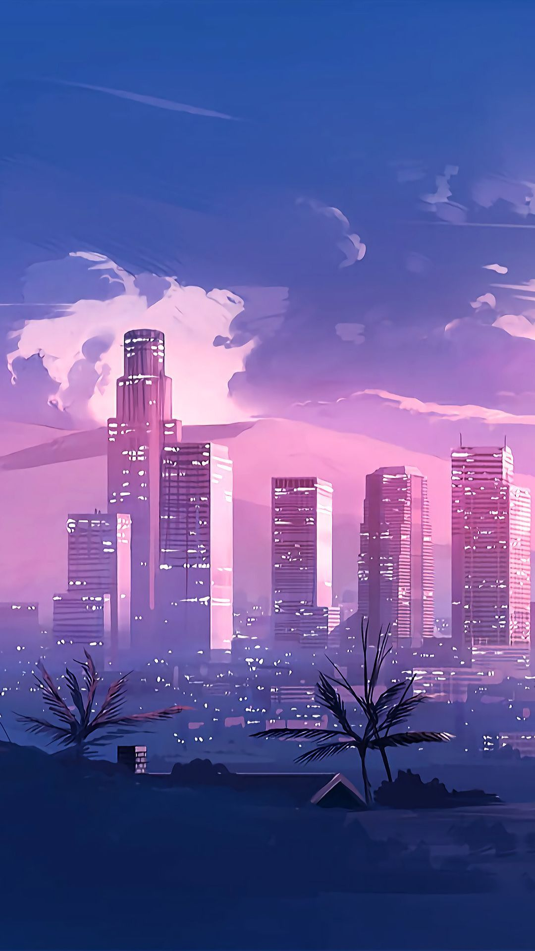 Blue City Anime Aesthetic Wallpapers Wallpaper Cave