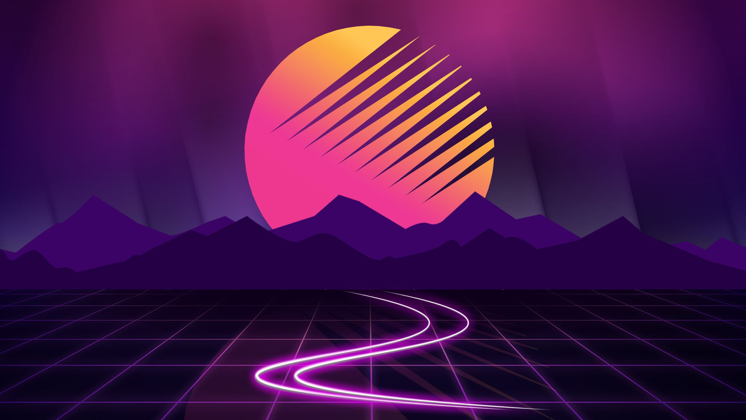 2560x1440 Outrun 1440P Resolution HD 4k Wallpapers, Image, Backgrounds, Photos and Pictures