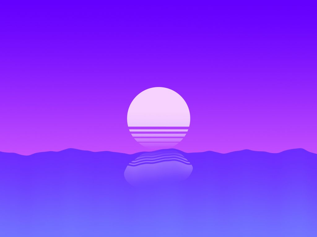 Desktop wallpapers sunset, sea, outrun, retro, art, hd image, picture, background, f89690