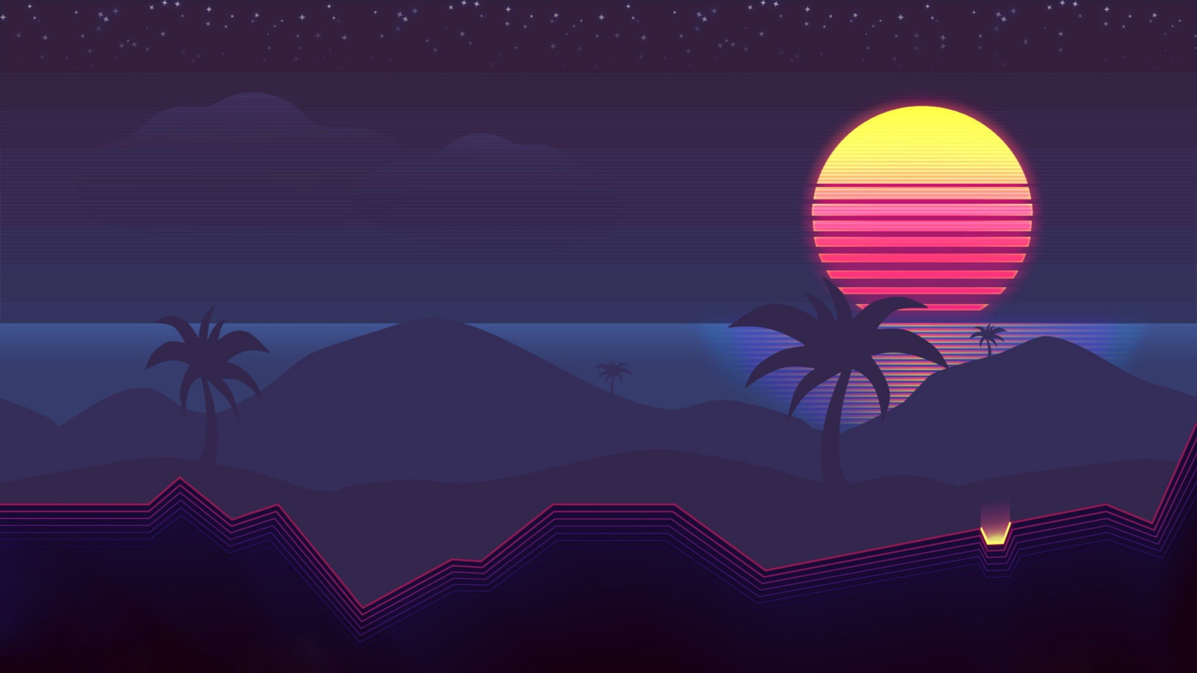 Outrun themed – Wallpapers Dist
