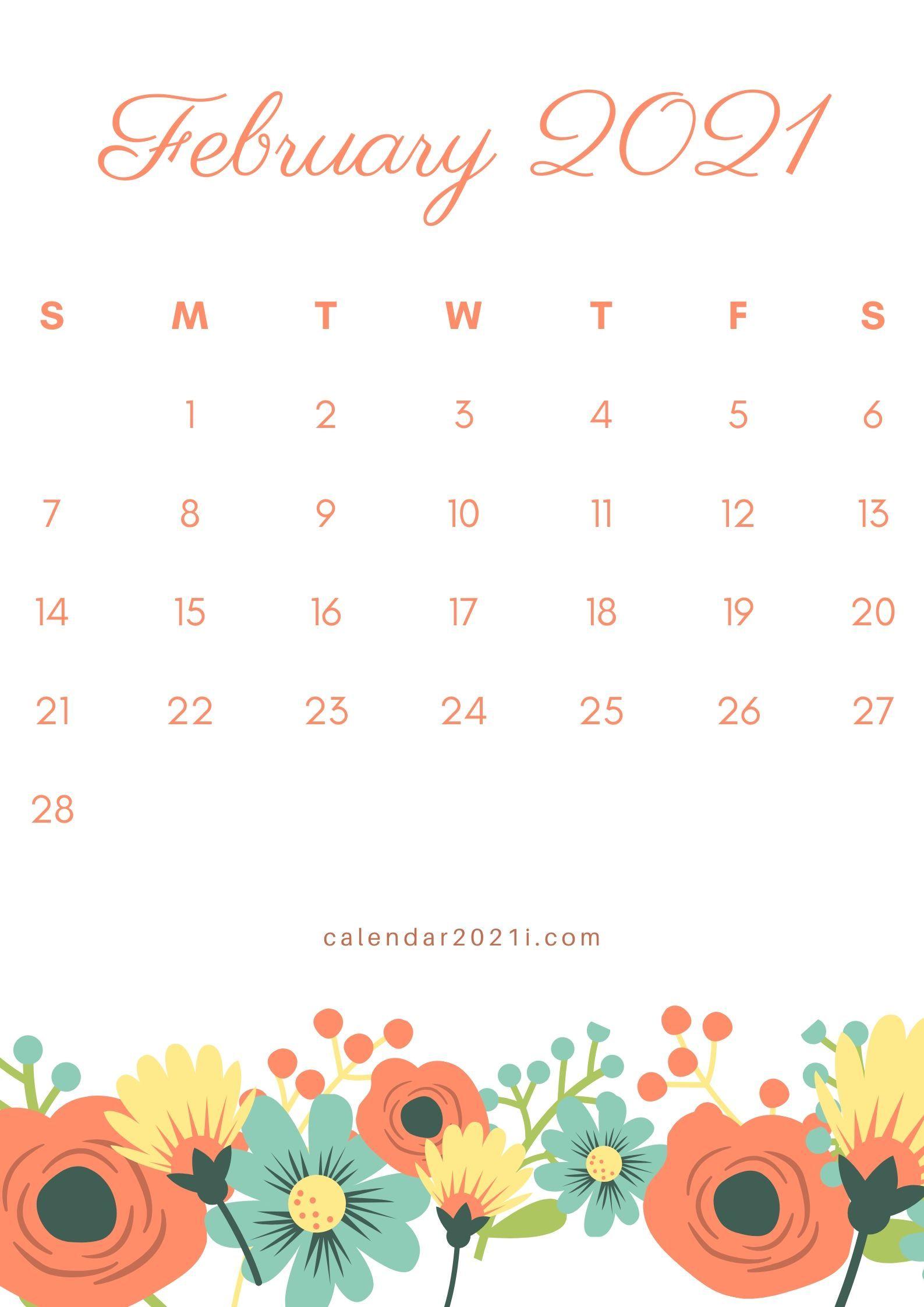 February 2021 Calendar Wallpapers Wallpaper Cave