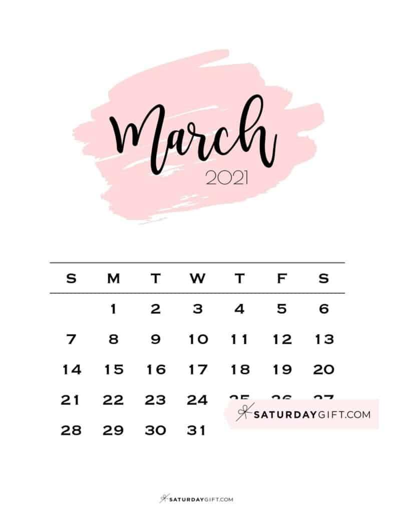 March 2021 Wallpaper Calendar Background
