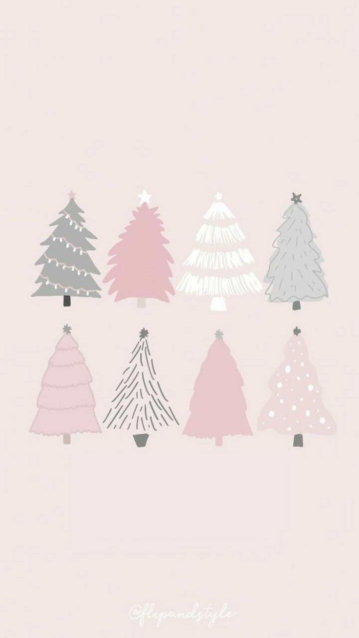 Pink And Gray Christmas Tree Wallpapers Wallpaper Cave